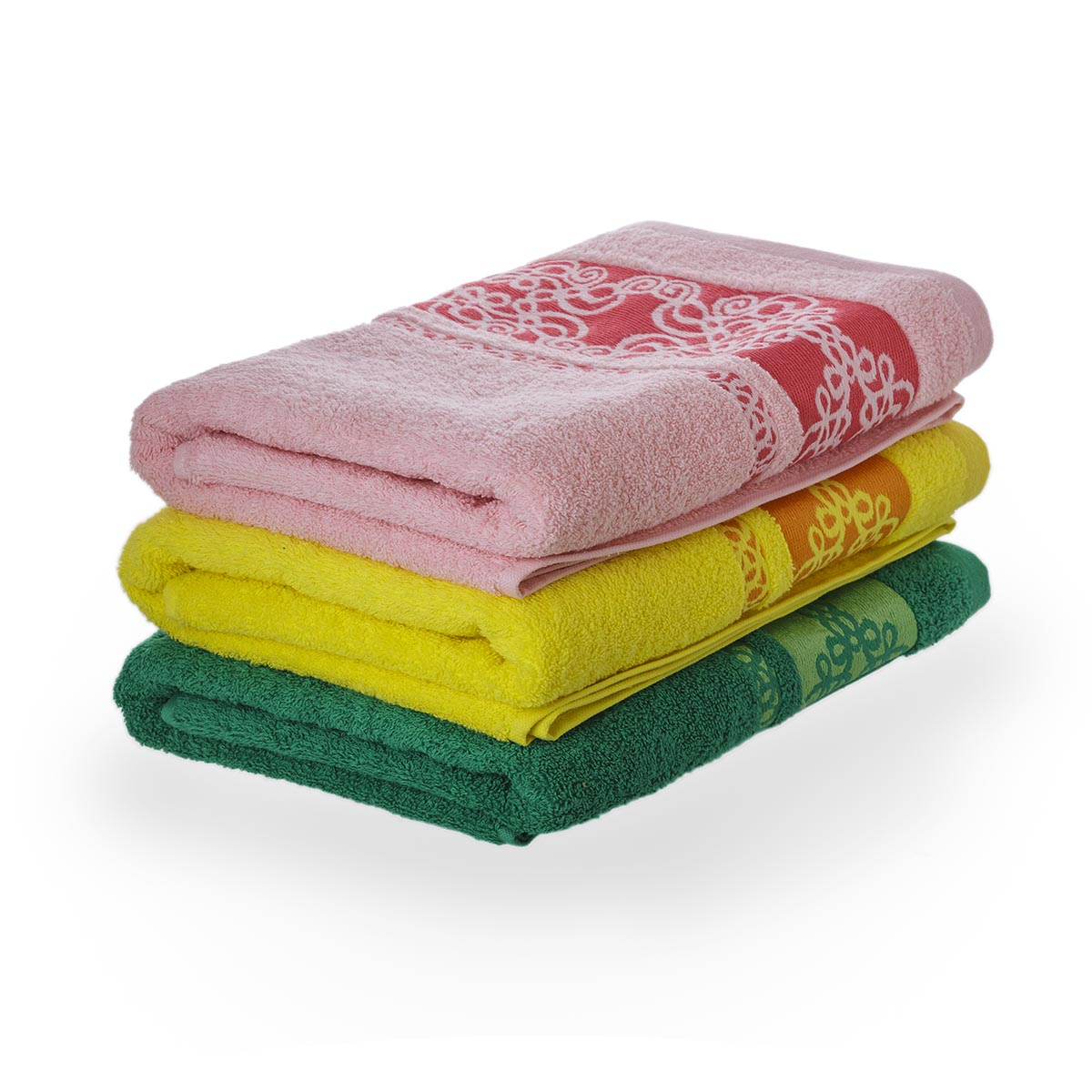 Полотенце Узор, цвет Зеленый, размер 50х90 смМахровые полотенца<br>Плотность ткани:420 г/кв. м.<br><br>Тип: Полотенце<br>Размер: 50х90<br>Материал: Махра