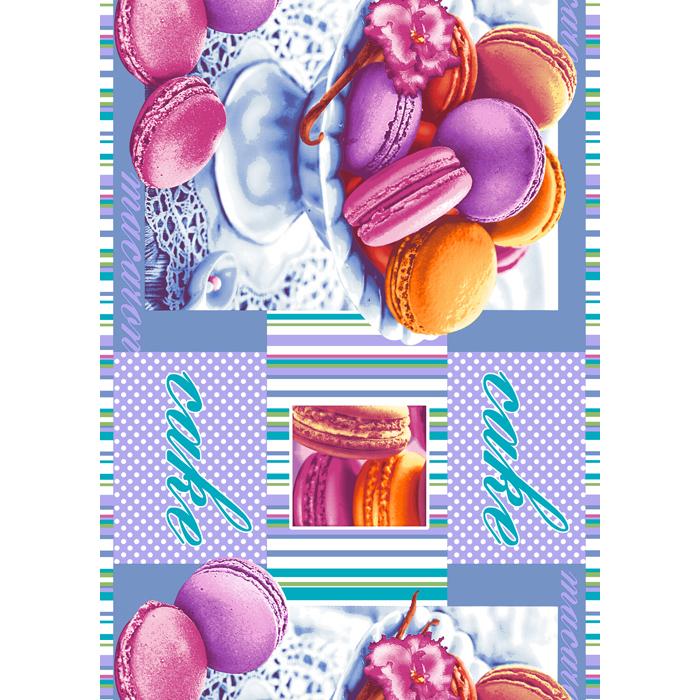 Вафельное полотенце Сладкая жизнь, размер 47х70 смПолотенца вафельные<br><br><br>Тип: Вафельное полотенце<br>Размер: 50х70<br>Материал: Вафельное полотно