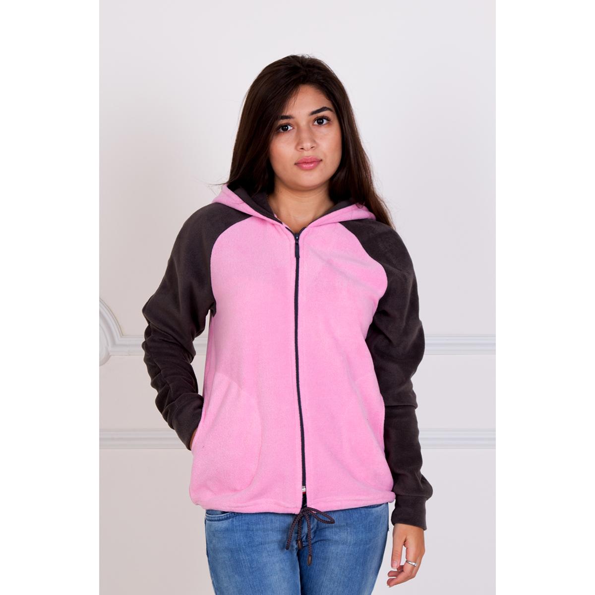 Женская толстовка Карина, размер 50Толстовки, куртки, джемпера<br>Обхват груди:100 см<br>Обхват талии:82 см<br>Обхват бедер:108 см<br>Рост:167 см<br><br>Тип: Жен. толстовка<br>Размер: 50<br>Материал: Флис