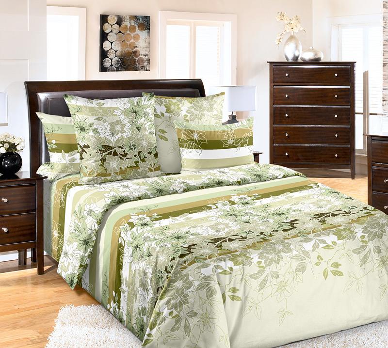 КПБ Бьюти Зеленый, размер 2,0-спальныйБязь 2,0 сп., евро, сем.<br>Плотность ткани:125 г/кв. м<br>Пододеяльник:215х175 см - 1 шт.<br>Простыня:220х185 см - 1 шт.<br>Наволочка:70х70 см - 2 шт.<br><br>Тип: КПБ<br>Размер: 2,0-сп.<br>Материал: Бязь