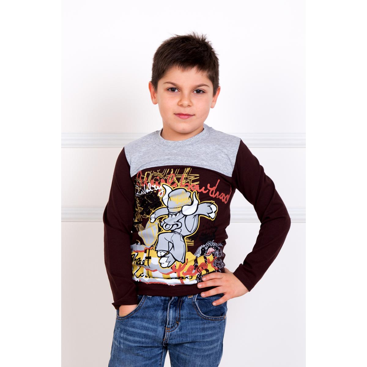 """Детская футболка """"Кирилл"""" Коричневый, размер 5 лет Узбекистан """"Pepelino"""""""