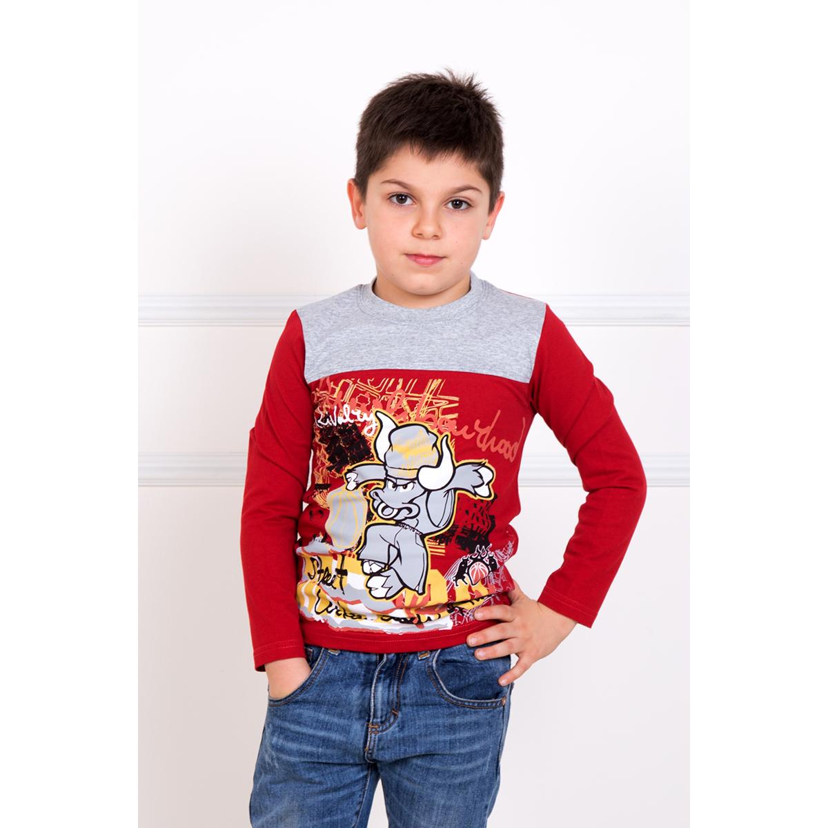 Детская футболка Кирилл Красный, размер 8 летТолстовки, джемпера и рубашки<br><br><br>Тип: Дет. футболка<br>Размер: 8 лет<br>Материал: Кулирка