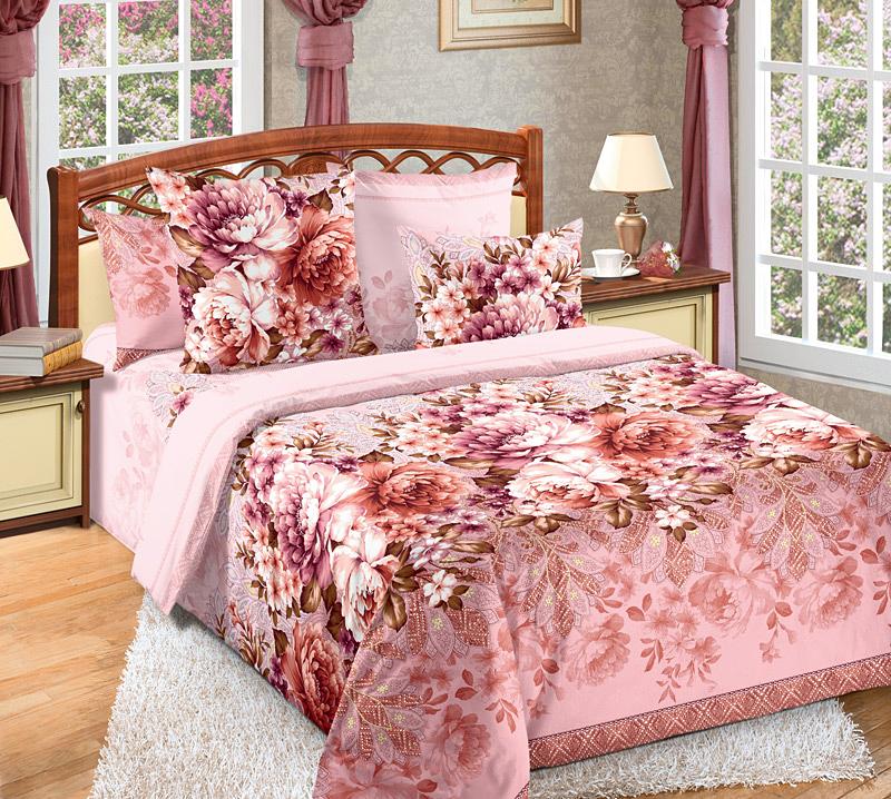 КПБ  Лукреция  Красный, размер 2,0-спальный с европростыней - Постельное белье артикул: 8925