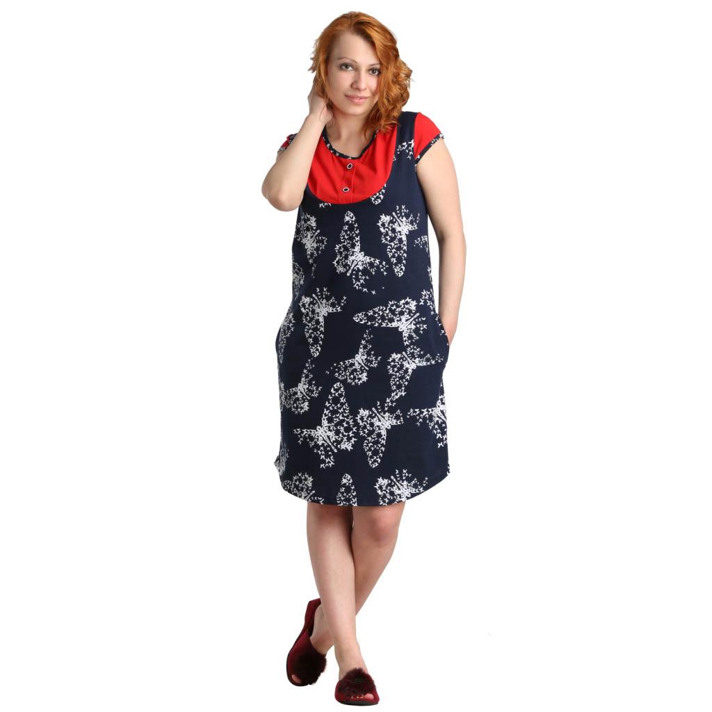 """Женская туника-платье """"Нола"""", размер 48 ЕленаТекс"""