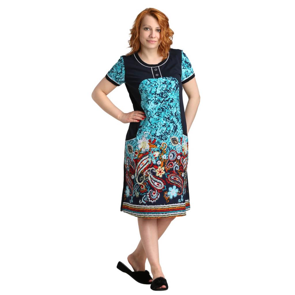 """Женская туника-платье """"Мелл"""" арт. 0346, размер 48 ЕленаТекс"""