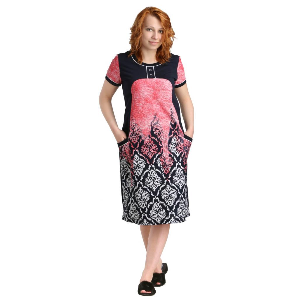 """Женская туника-платье """"Мелл"""" арт. 0347, размер 48 ЕленаТекс"""