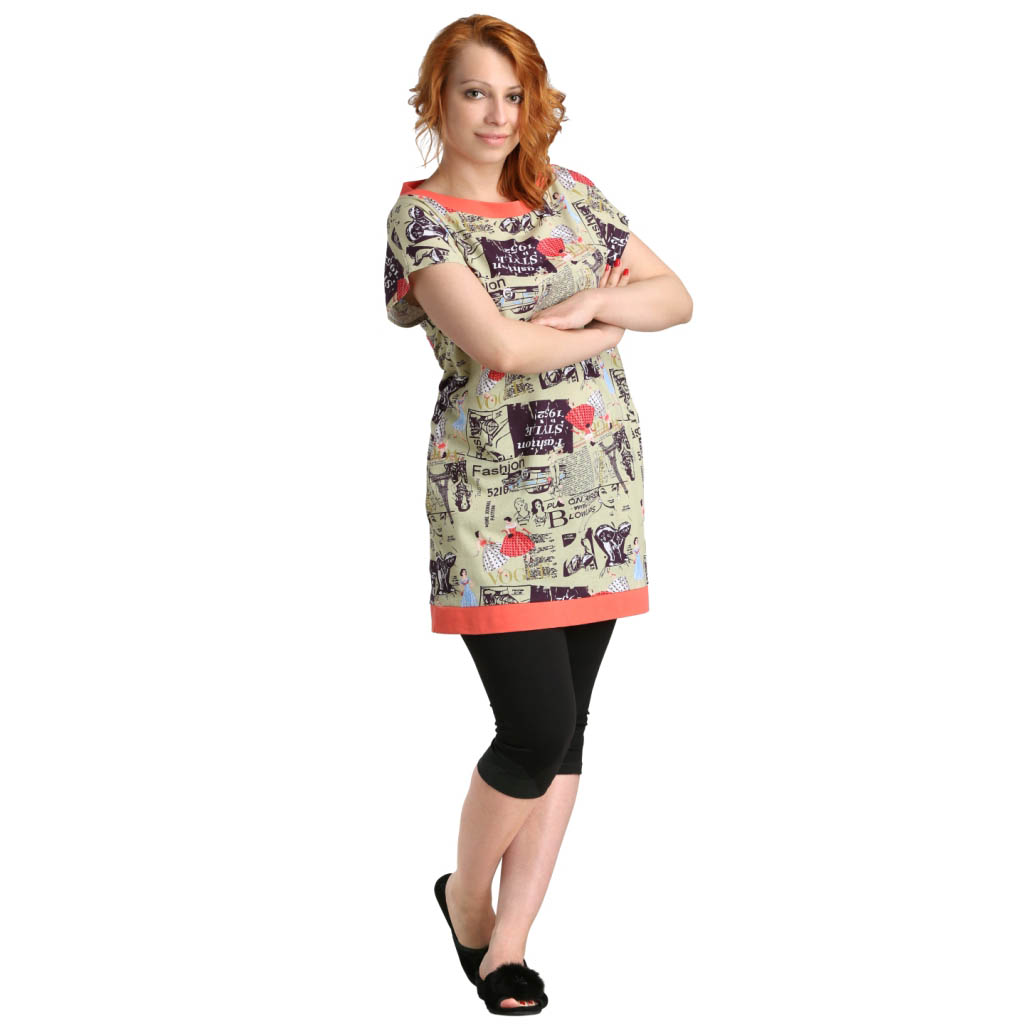 "Женская туника ""Паррис"" арт. 0356, размер 56 ЕленаТекс"