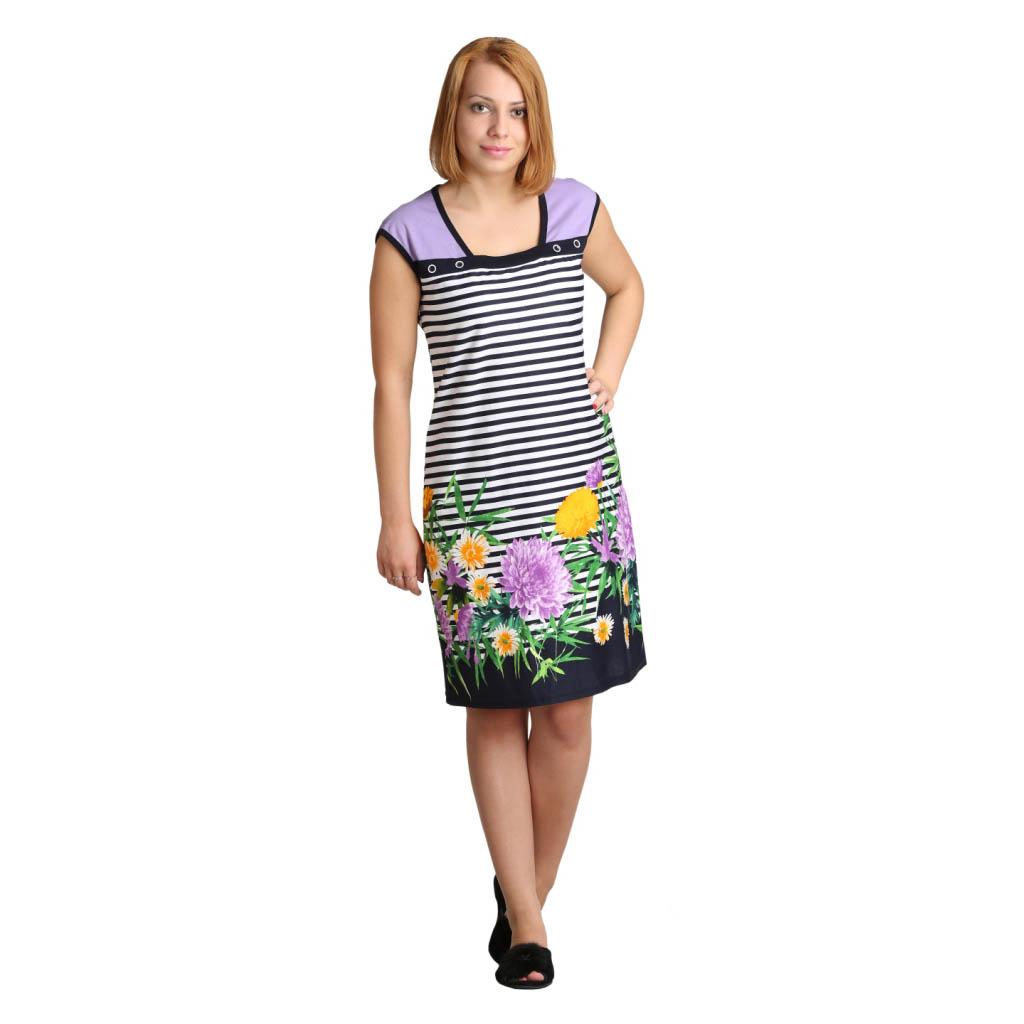 Женское платье Силви Сиреневый, размер 46Платья, туники<br>Обхват груди:92 см<br>Обхват талии:73 см<br>Обхват бедер:100 см<br>Длина по спинке:92 см<br>Рост:164-170 см<br><br>Тип: Жен. платье<br>Размер: 46<br>Материал: Кулирка