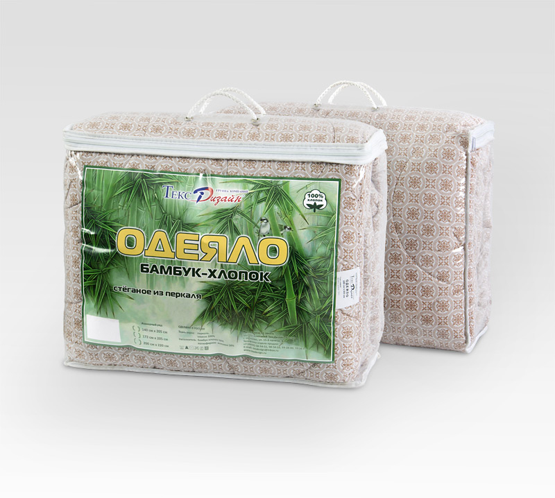 """Одеяло """"Бамбук-хлопок"""", размер Евро (200х220 см)"""