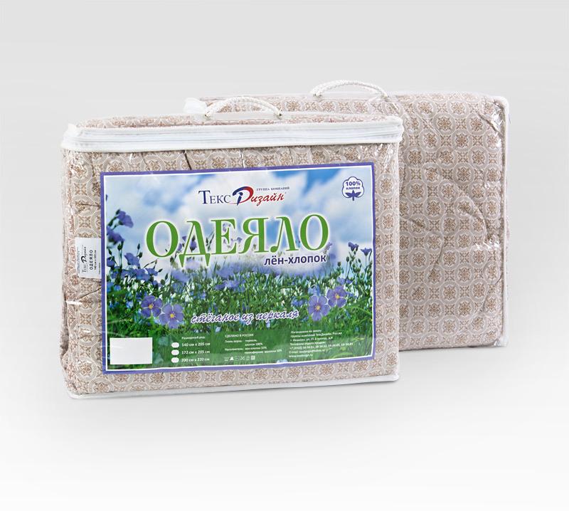 Одеяло лен-хлопок облегченное, размер