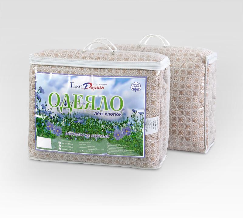 """Одеяло """"Лен-хлопок"""", размер 2,0 спальное (172х205 см)"""