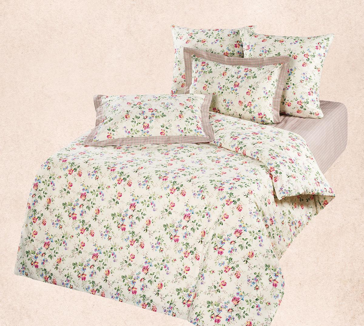 Комплект  Флора , размер Евро - Постельное белье артикул: 9045