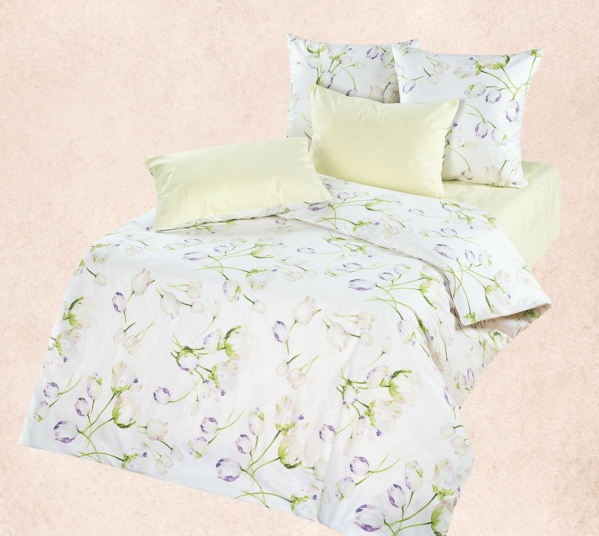 Комплект  Тюльпан , размер Евро - Постельное белье артикул: 9081