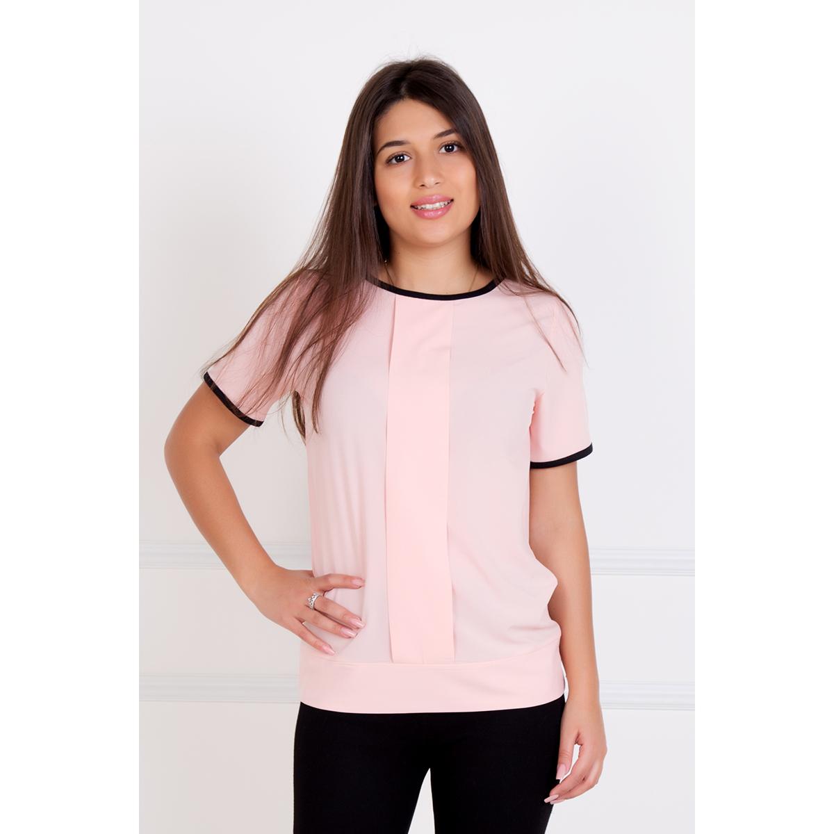 Женская блуза Кира Персиковый, размер 54Блузы<br>Обхват груди: 108 см <br>Обхват талии: 88 см <br>Обхват бедер: 116 см <br>Рост: 167 см<br><br>Тип: Жен. блуза<br>Размер: 54<br>Материал: Креп