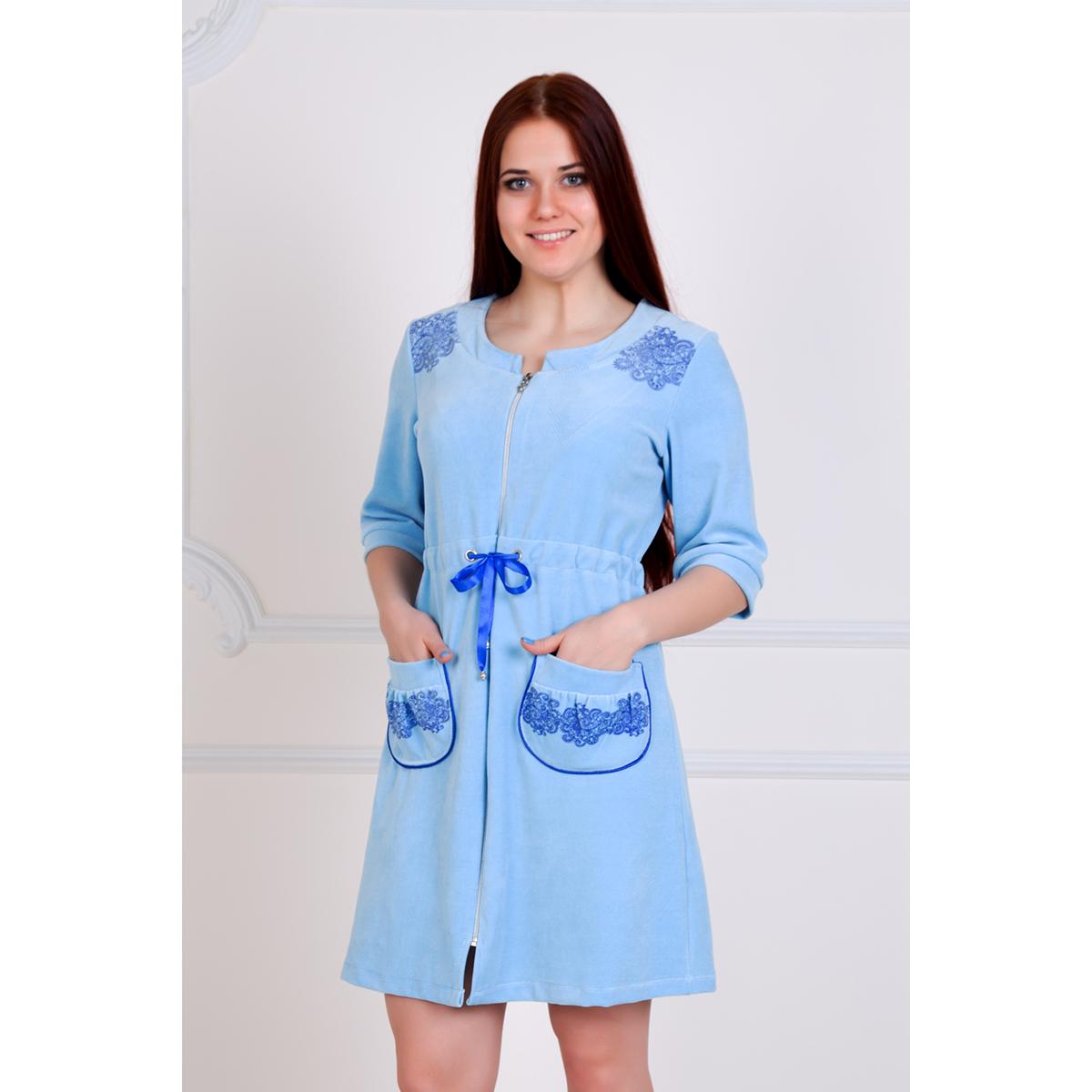 "Женский халат ""Джемма"" Голубой, размер 52 Лика Дресс"