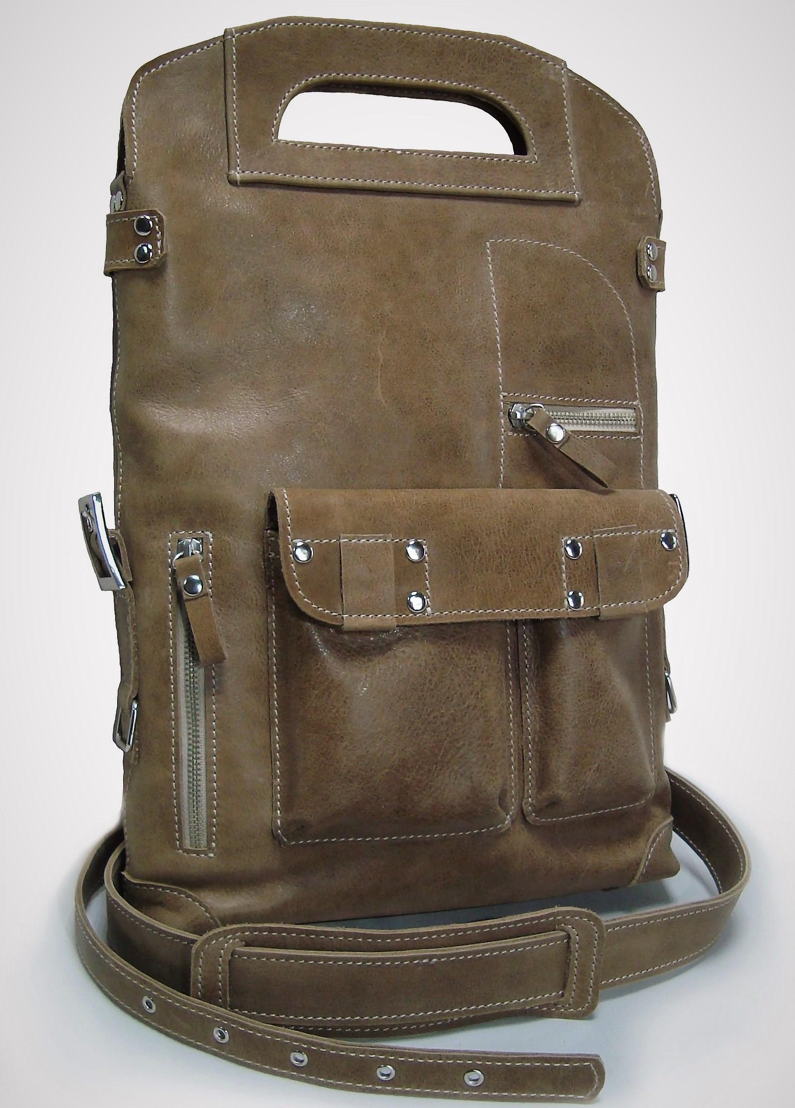 Сумка мужская Модель № 4Сумки и др. изделия из кожи<br>Общая высота сумки: 42 см <br>Высота до ручек: 34 см <br>Ширина сумки: 27 см <br>Ширина дна: 6 см <br>Длинна ремня: 140 см<br><br>Тип: Сумка<br>Размер: -<br>Материал: Натуральная кожа