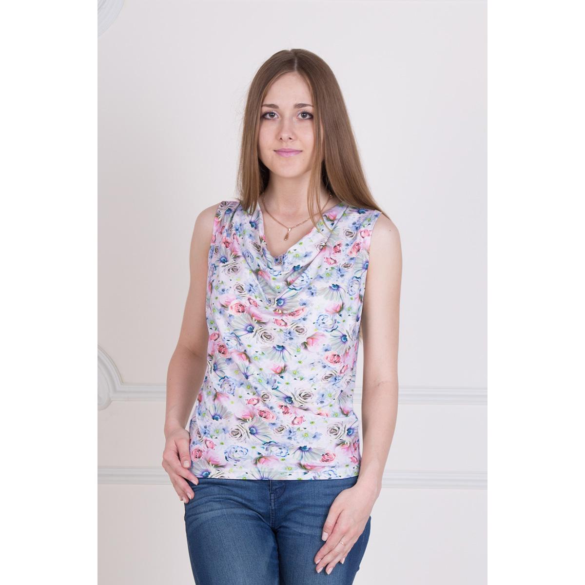 Женская блуза Элиза арт. 0335, размер 42Блузы<br>Обхват груди:84 см<br>Обхват талии:65 см<br>Обхват бедер:92 см<br>Рост:167 см<br><br>Тип: Жен. блуза<br>Размер: 42<br>Материал: Вискоза