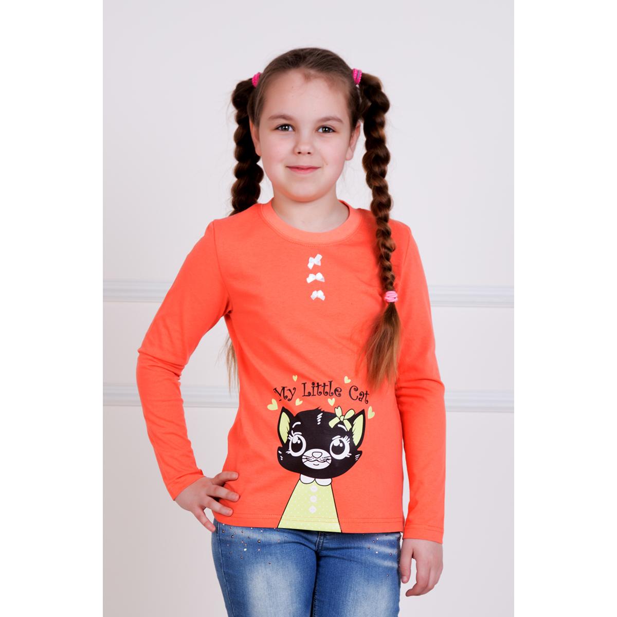 """Детская футболка """"Кэт"""" Оранжевый, размер 3 года"""