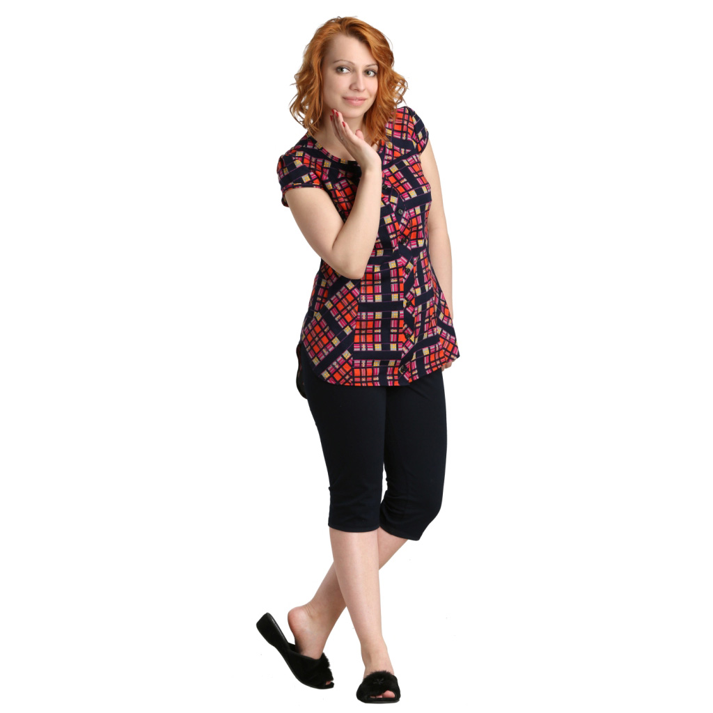 Женский костюм Данья Бордо, размер 48Костюмы<br>Обхват груди:96 см<br>Обхват талии:77 см<br>Обхват бедер:104 см<br>Длина блузы по спинке:77 см<br>Длина брючин во внеш. шву:66 см<br>Рост:164-170 см<br><br>Тип: Жен. костюм<br>Размер: 48<br>Материал: Кулирка