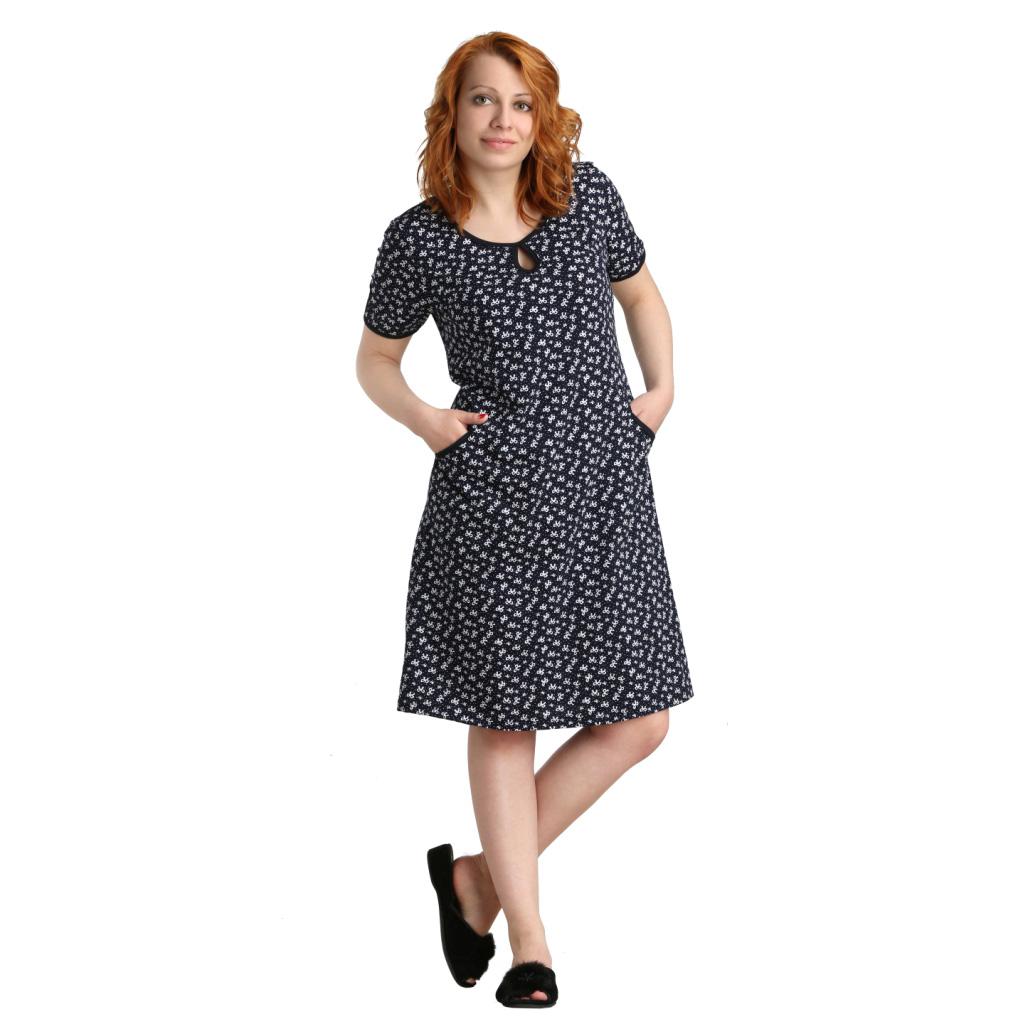 Женское платье Карла арт. 0373, размер 50Платья, туники<br>Обхват груди:100 см<br>Обхват талии:82 см<br>Обхват бедер:108 см<br>Длина по спинке:107 см<br>Рост:164-170 см<br><br>Тип: Жен. платье<br>Размер: 50<br>Материал: Кулирка