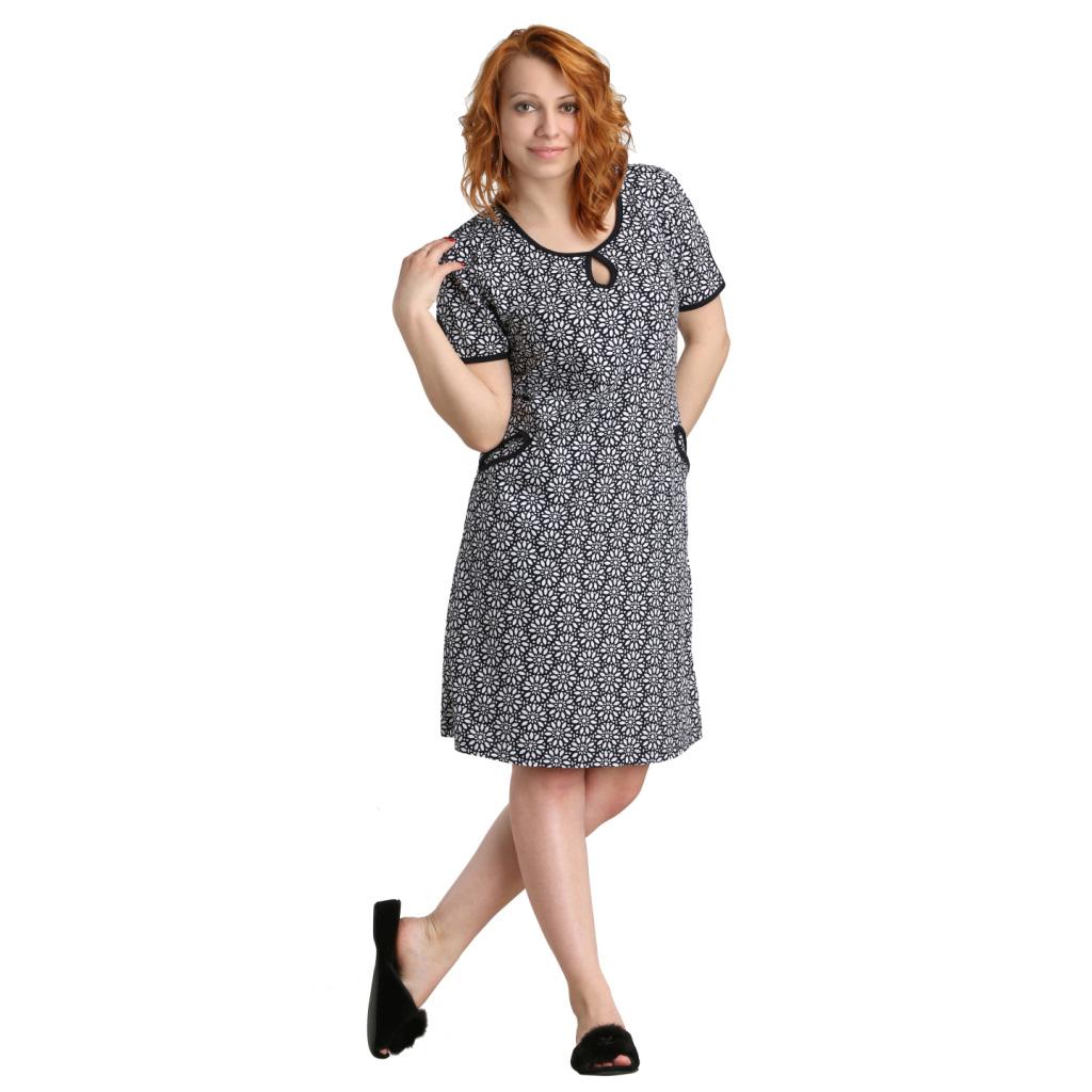 Женское платье Карла арт. 0374, размер 52Платья<br>Обхват груди:104 см<br>Обхват талии:86 см<br>Обхват бедер:112 см<br>Длина по спинке:107 см<br>Рост:164-170 см<br><br>Тип: Жен. платье<br>Размер: 52<br>Материал: Кулирка