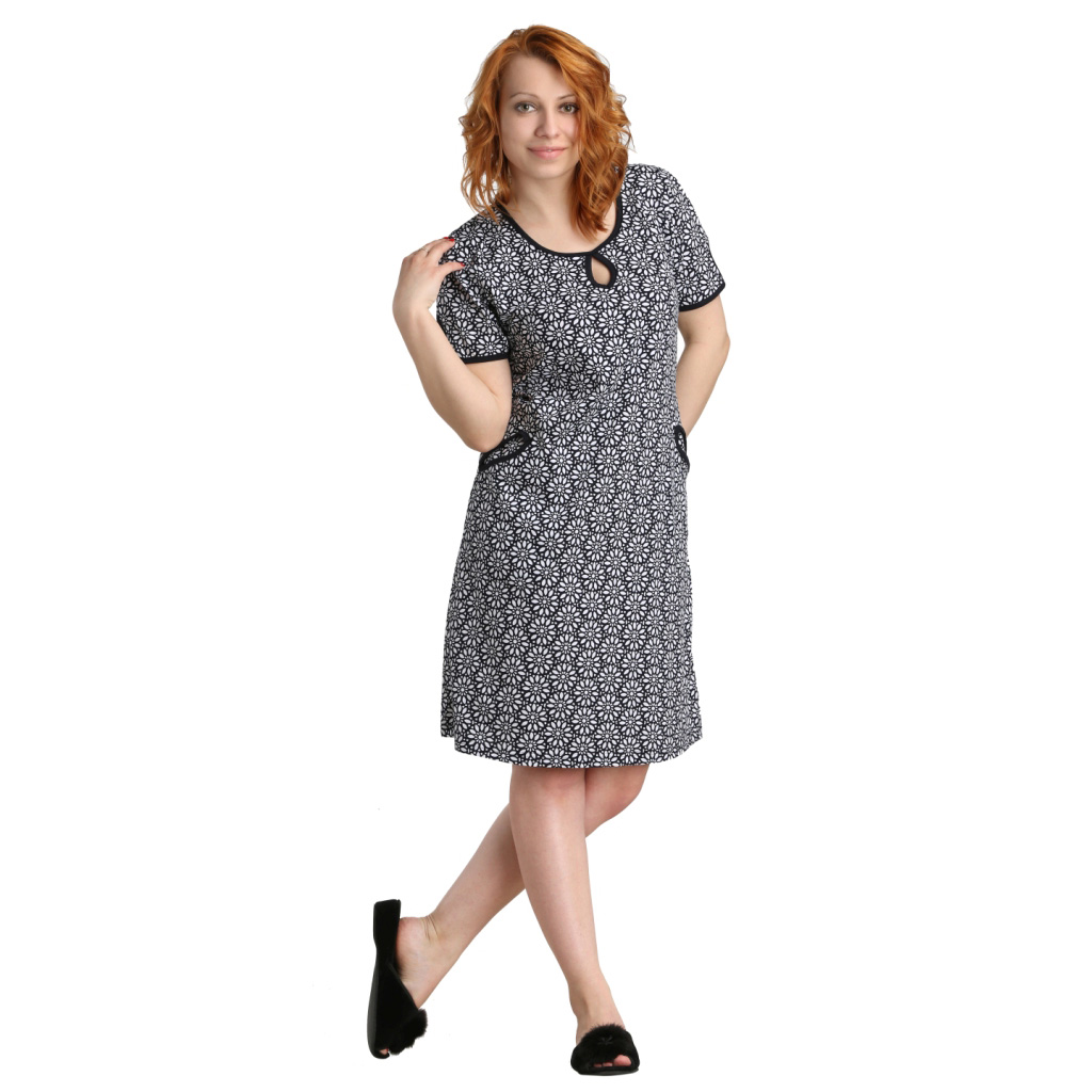 Женское платье Карла арт. 0374, размер 60Платья, туники<br>Обхват груди:120 см<br>Обхват талии:105 см<br>Обхват бедер:128 см<br>Длина по спинке:111 см<br>Рост:164-170 см<br><br>Тип: Жен. платье<br>Размер: 60<br>Материал: Кулирка