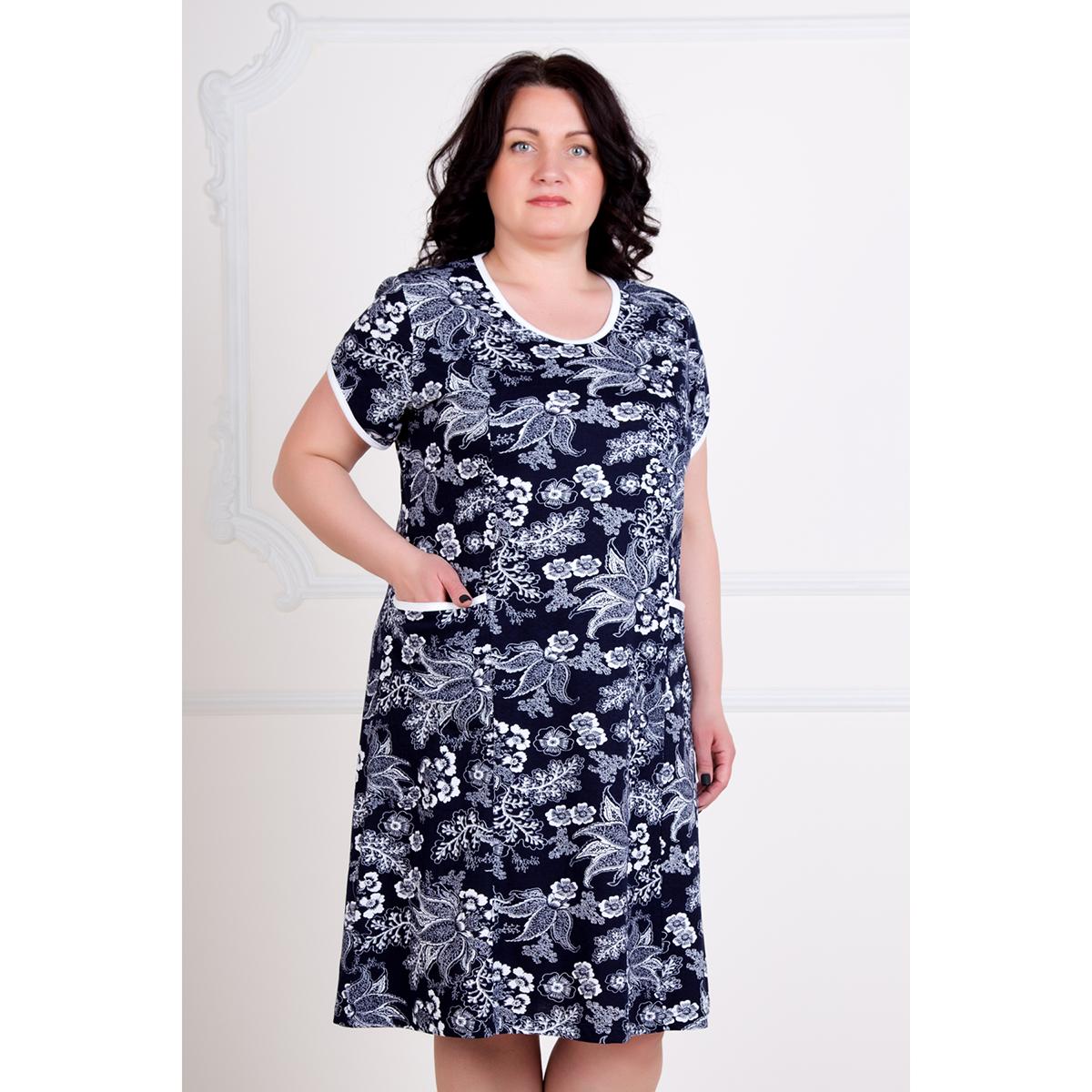Женское платье Нинель, размер 60Платья, туники<br>Обхват груди:120 см<br>Обхват талии:101 см<br>Обхват бедер:128 см<br>Длина по спинке:104 см<br>Рост:167 см<br><br>Тип: Жен. платье<br>Размер: 60<br>Материал: Кулирка
