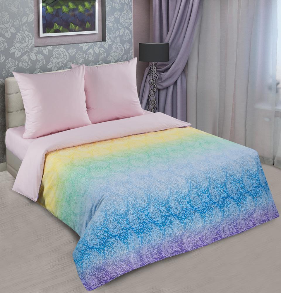 Комплект Лазурь Розовый, размер ЕвроПоплин<br>Плотность ткани:115 г/кв. м<br>Пододеяльник:217х200 см - 1 шт.<br>Простыня:220х240 см - 1 шт.<br>Наволочка:70х70 см - 2 шт.<br><br>Тип: КПБ<br>Размер: Евро<br>Материал: Поплин