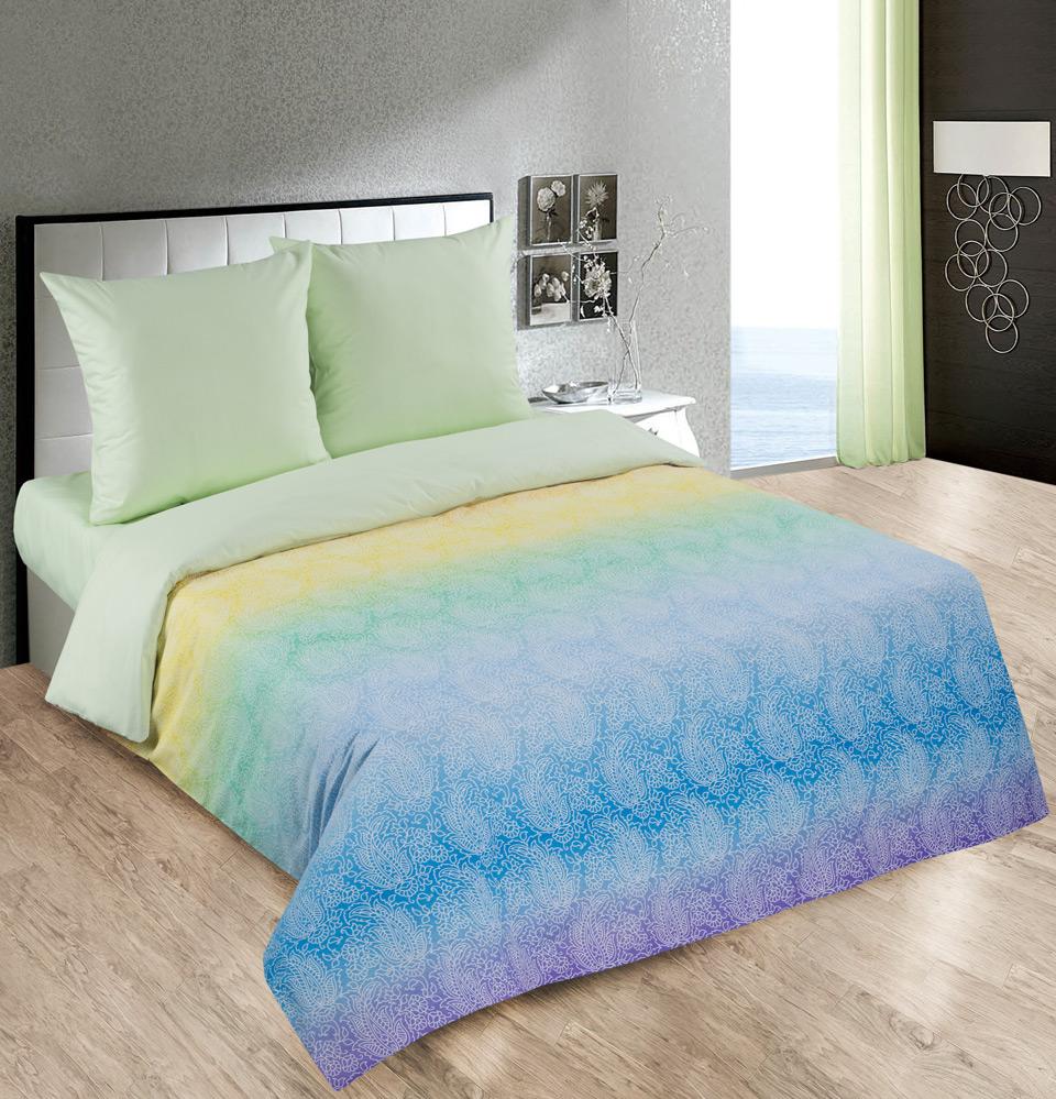 Комплект Лазурь Зеленый, размер 2,0-спальный с европростынейПоплин<br>Плотность ткани:115 г/кв. м<br>Пододеяльник:217х175 см - 1 шт.<br>Простыня:220х240 см - 1 шт.<br>Наволочка:70х70 см - 2 шт.<br><br>Тип: КПБ<br>Размер: 2,0-сп. евро<br>Материал: Поплин