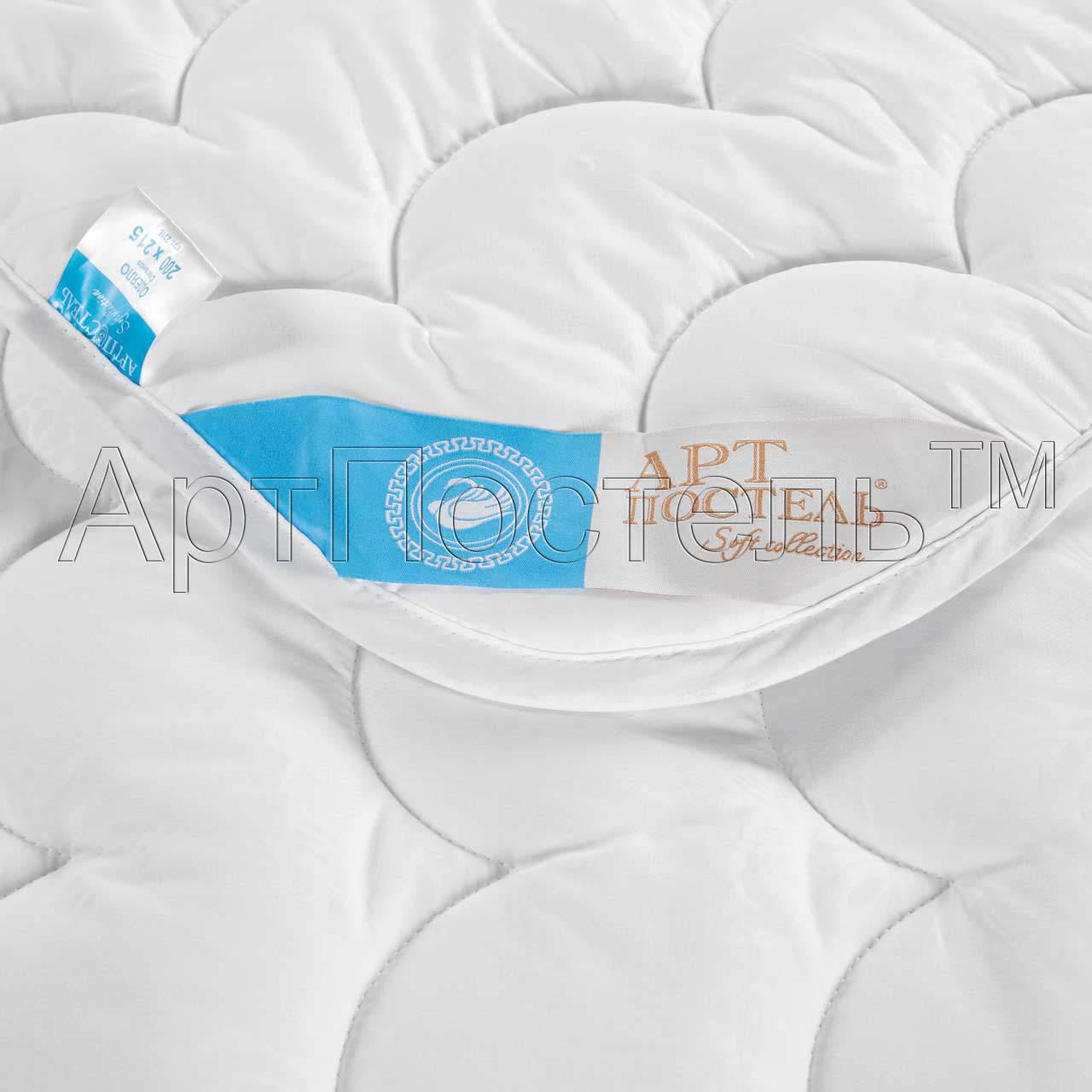 Одеяло Лебяжий пух Soft Collection, размер Евро (200х215 см)Одеяла<br>Длина:215 см<br>Ширина:200 см<br>Чехол:Стеганый, с окаймляющей лентой<br>Плотность ткани:115 г/кв. м<br>Плотность наполнителя:350 г/кв. м<br><br>Тип: Одеяло<br>Размер: 200x215<br>Материал: Лебяжий пух