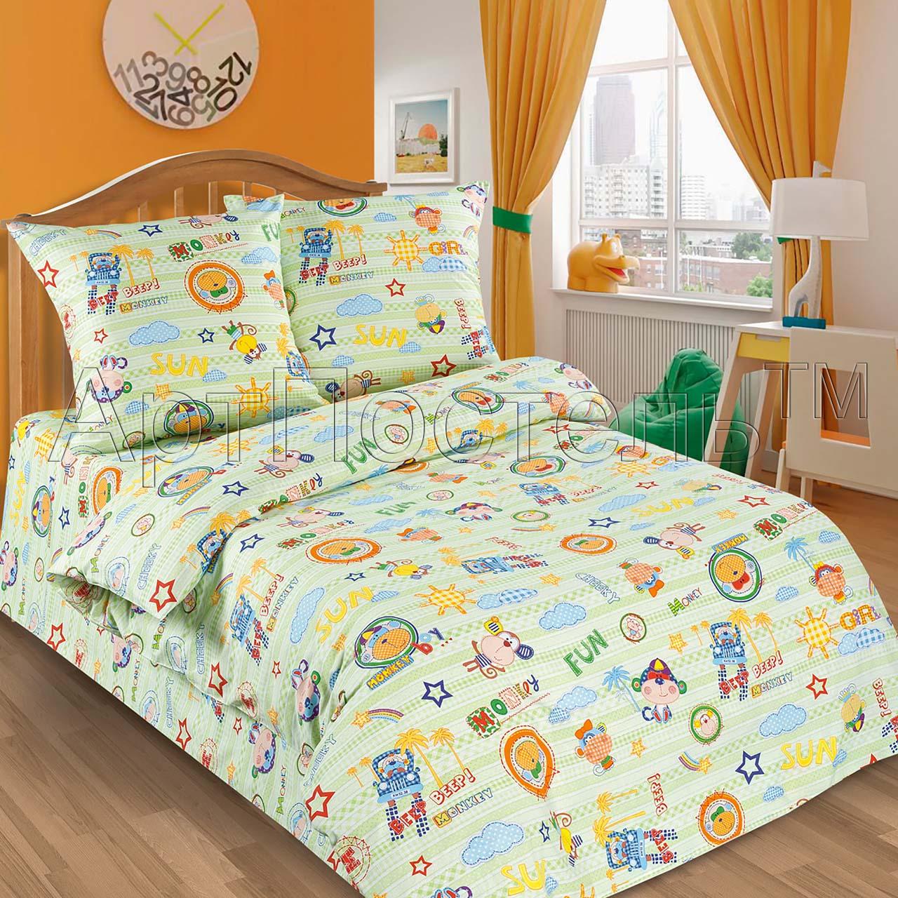 Детский комплект  Улыбка , размер 1,5 сп. - Постельное белье артикул: 7885