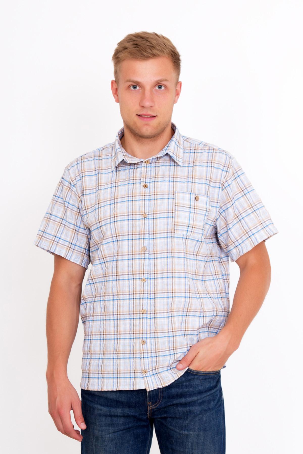 Муж. рубашка  Жатка  Бежевый р. 48 - Мужская одежда артикул: 18991