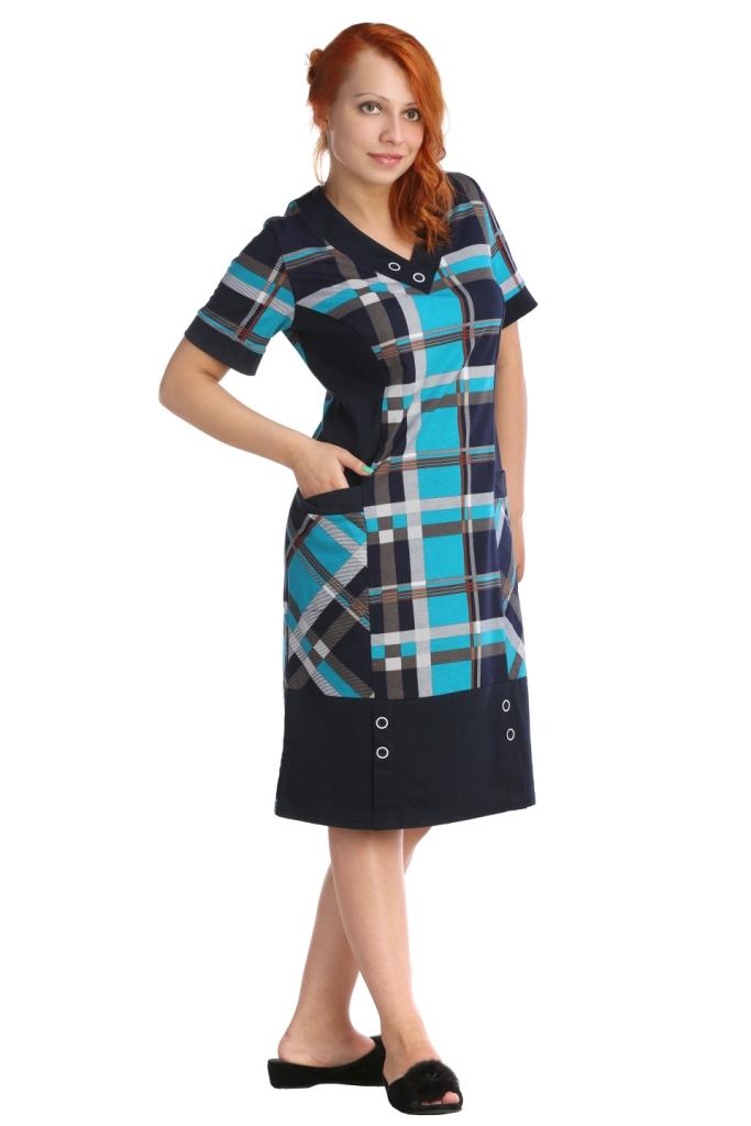 цена Жен. платье арт. 16-0033 Бирюзовый р. 58 онлайн в 2017 году