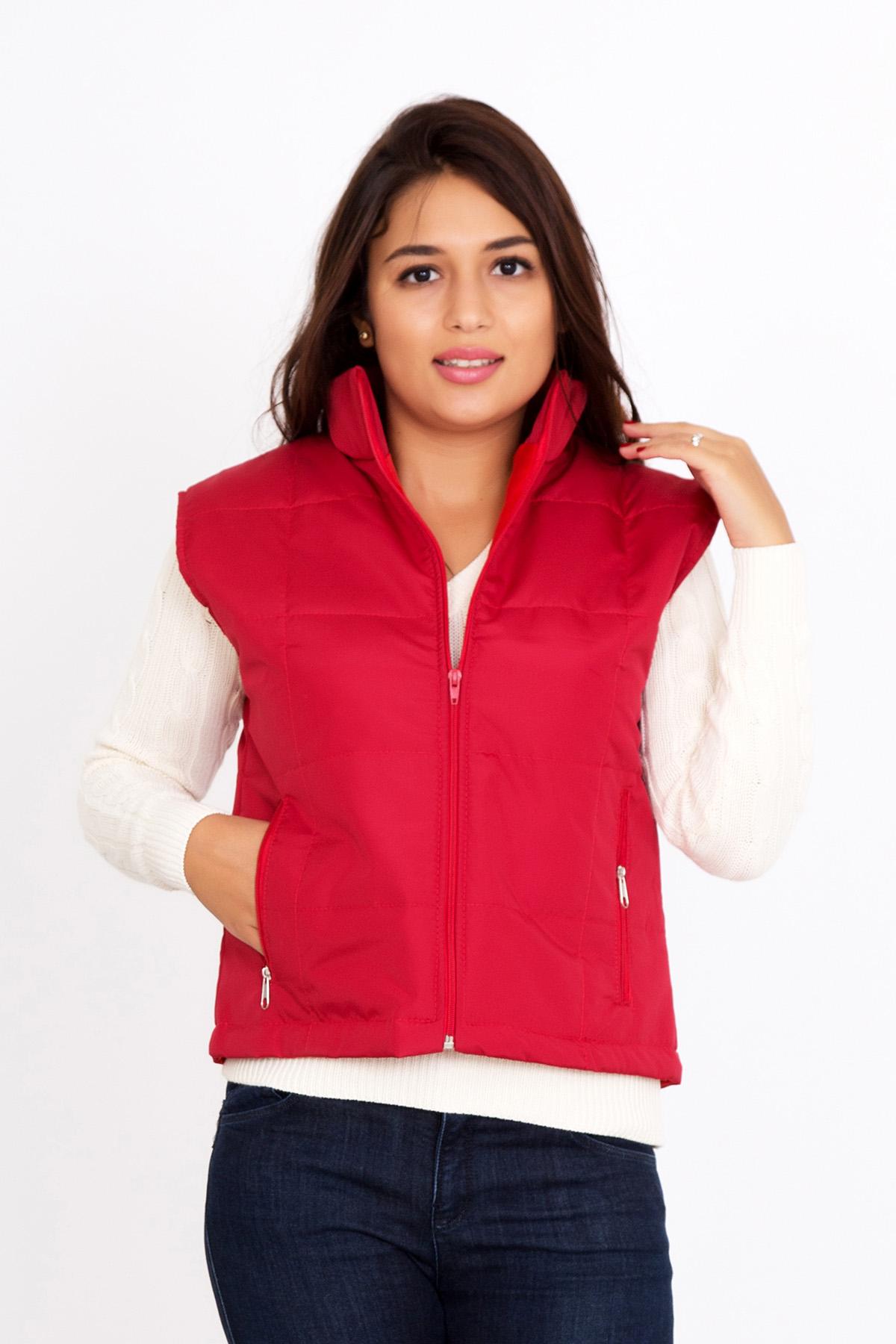 Жен. жилет арт. 18-0077 Красный р. 60 - Женская одежда артикул: 19556