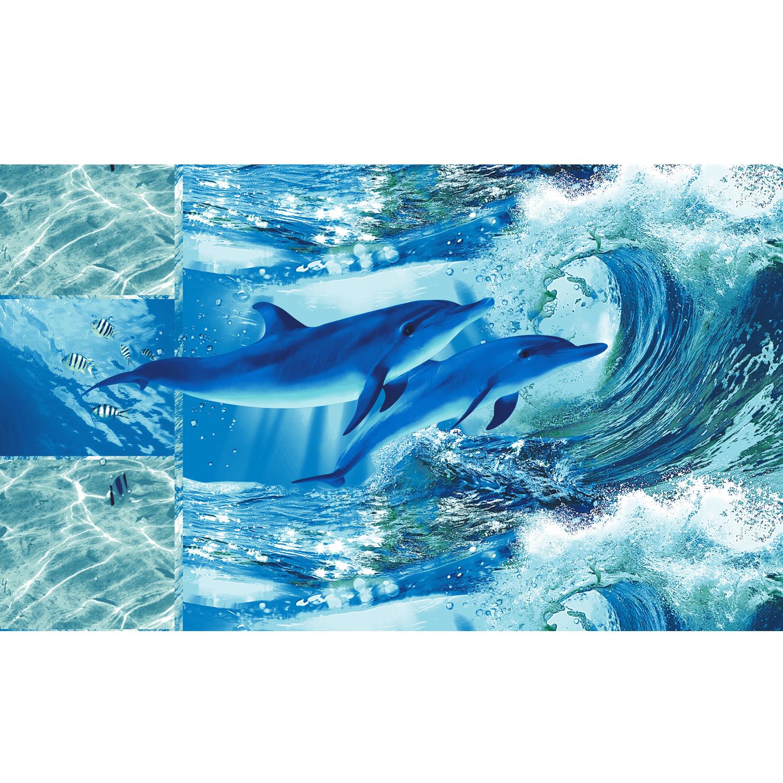Вафельное полотенце Дельфинарий р. 100х150 смВафельные полотенца<br><br><br>Тип: Вафельное полотенце<br>Размер: 100х150<br>Материал: Вафельное полотно