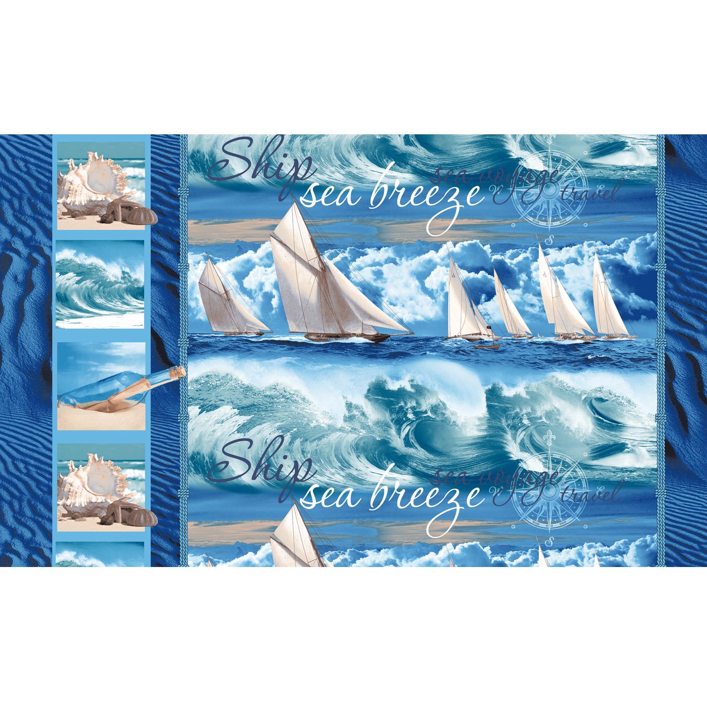 Вафельное полотенце Морской бриз р. 100х150 смВафельные полотенца<br><br><br>Тип: Вафельное полотенце<br>Размер: 100х150<br>Материал: Вафельное полотно
