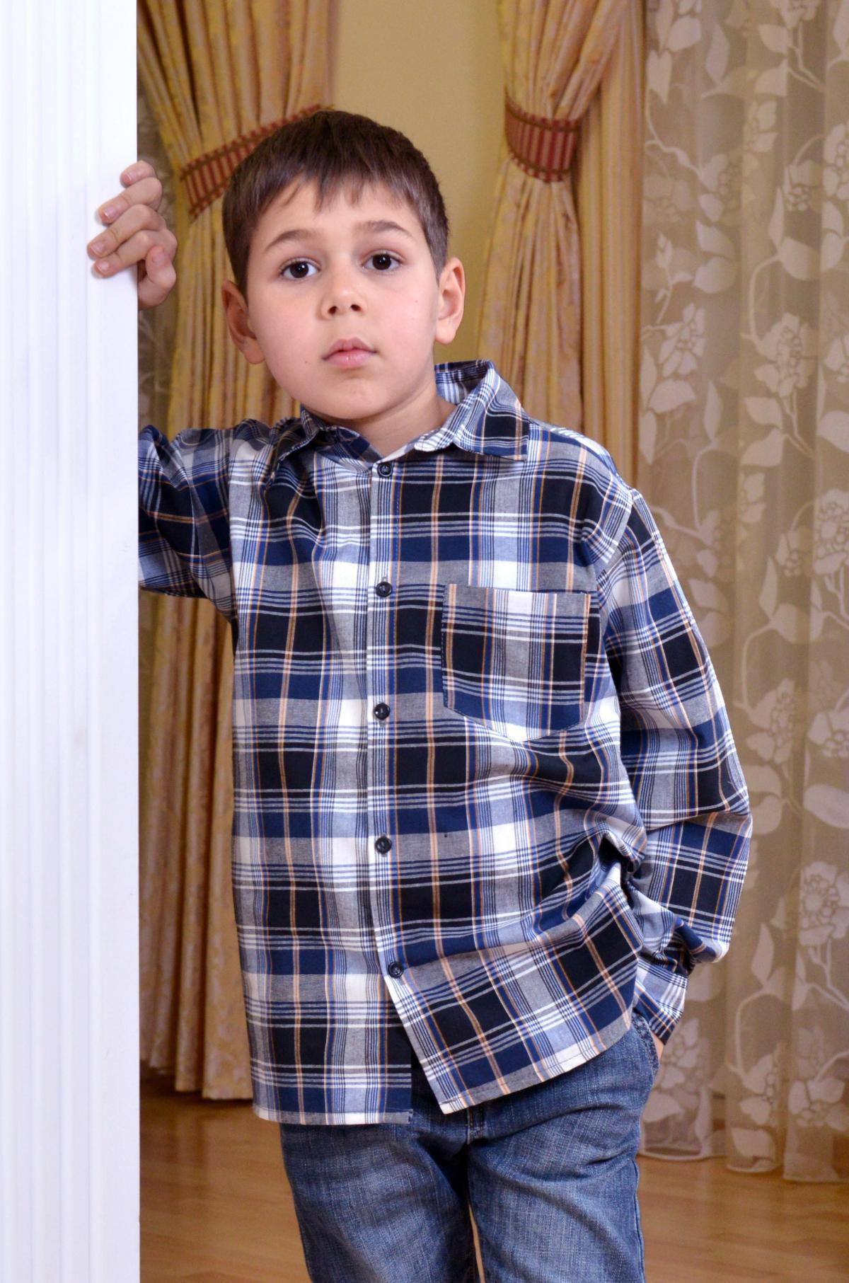 Дет. рубашка арт. 18-0092 р. 32Рубашки<br><br><br>Тип: Дет. рубашка<br>Размер: 32<br>Материал: Фуле
