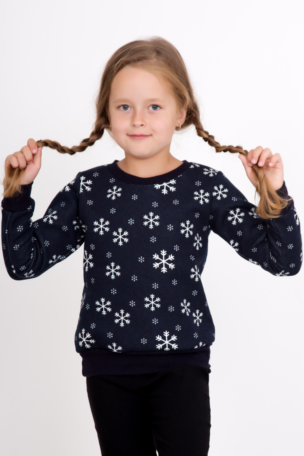 Дет. толстовка Снежинка р. 36Толстовки, джемпера и рубашки<br><br><br>Тип: Дет. толстовка<br>Размер: 36<br>Материал: Футер