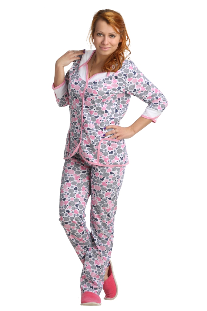 Жен. пижама арт. 16-0047 Малиновый р. 48 ЕленаТекс