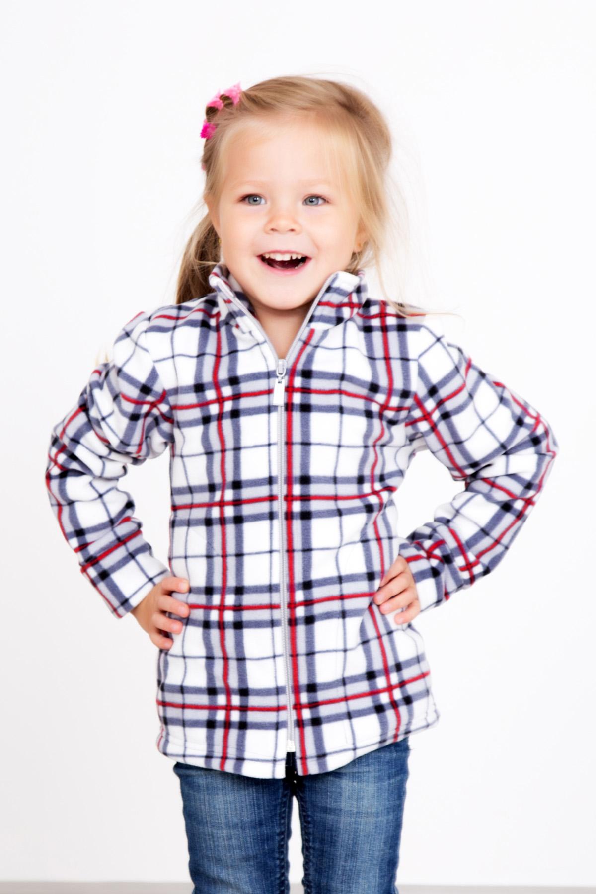Дет. толстовка Клетка р. 36Толстовки, джемпера и рубашки<br><br><br>Тип: Дет. толстовка<br>Размер: 36<br>Материал: Флис