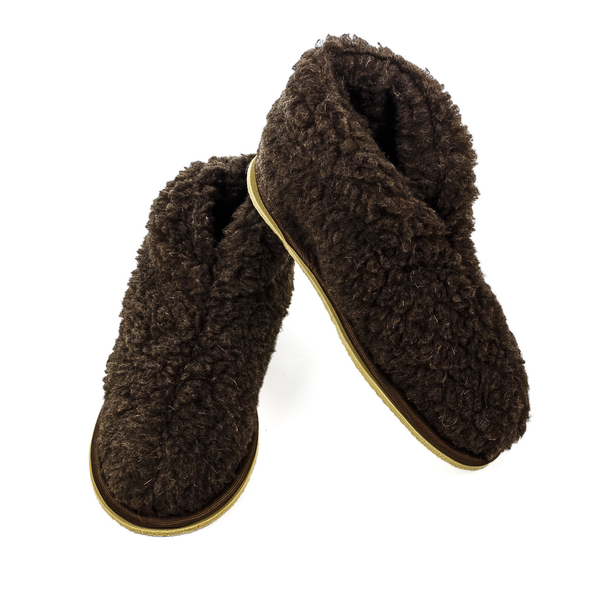Обувь Бабуши Уют Коричневый р. 42-43Согревающий<br><br><br>Тип: Обувь<br>Размер: 42-43<br>Материал: Овечья шерсть