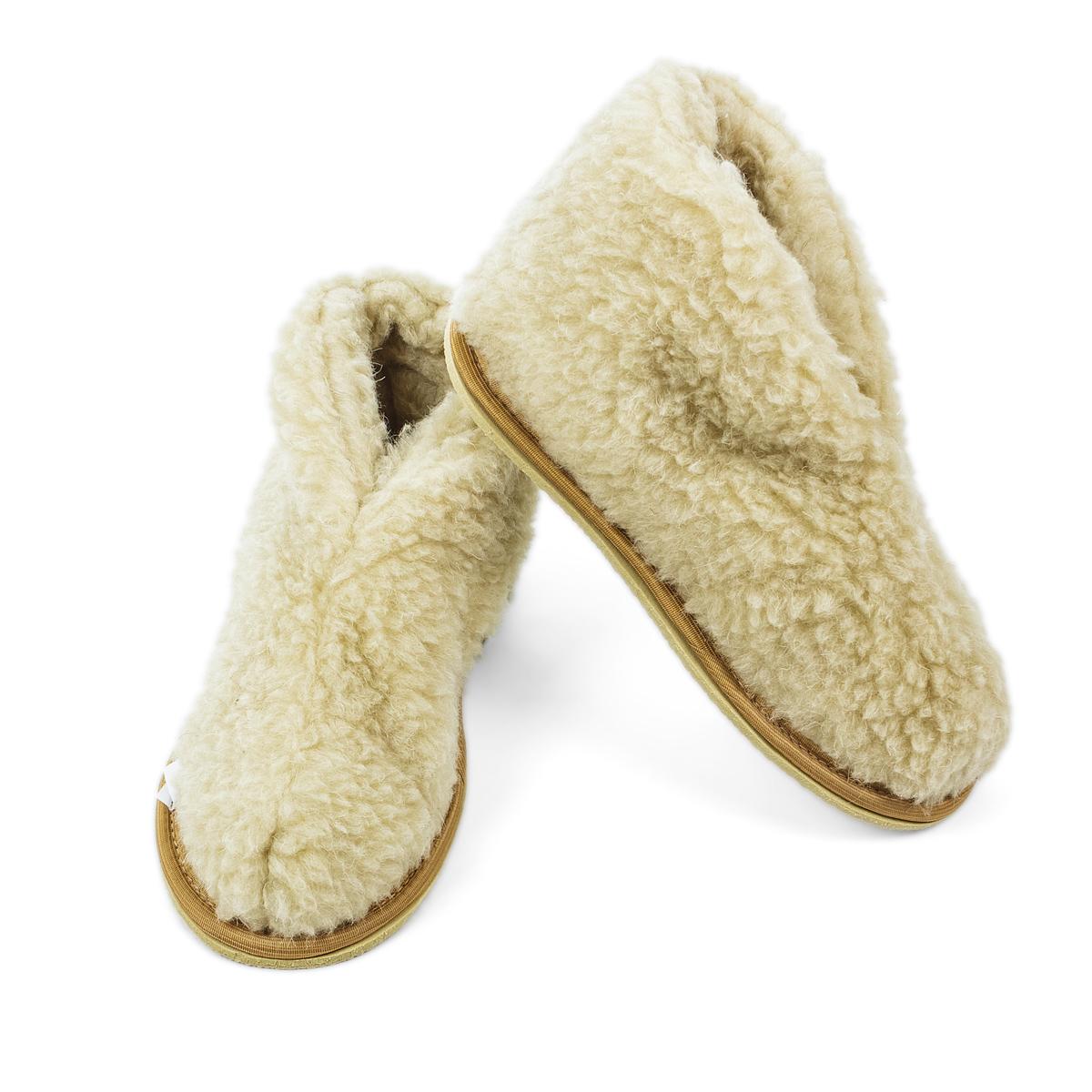 Обувь Бабуши Уют Бежевый р. 35Согревающий<br><br><br>Тип: Обувь<br>Размер: 35<br>Материал: Овечья шерсть