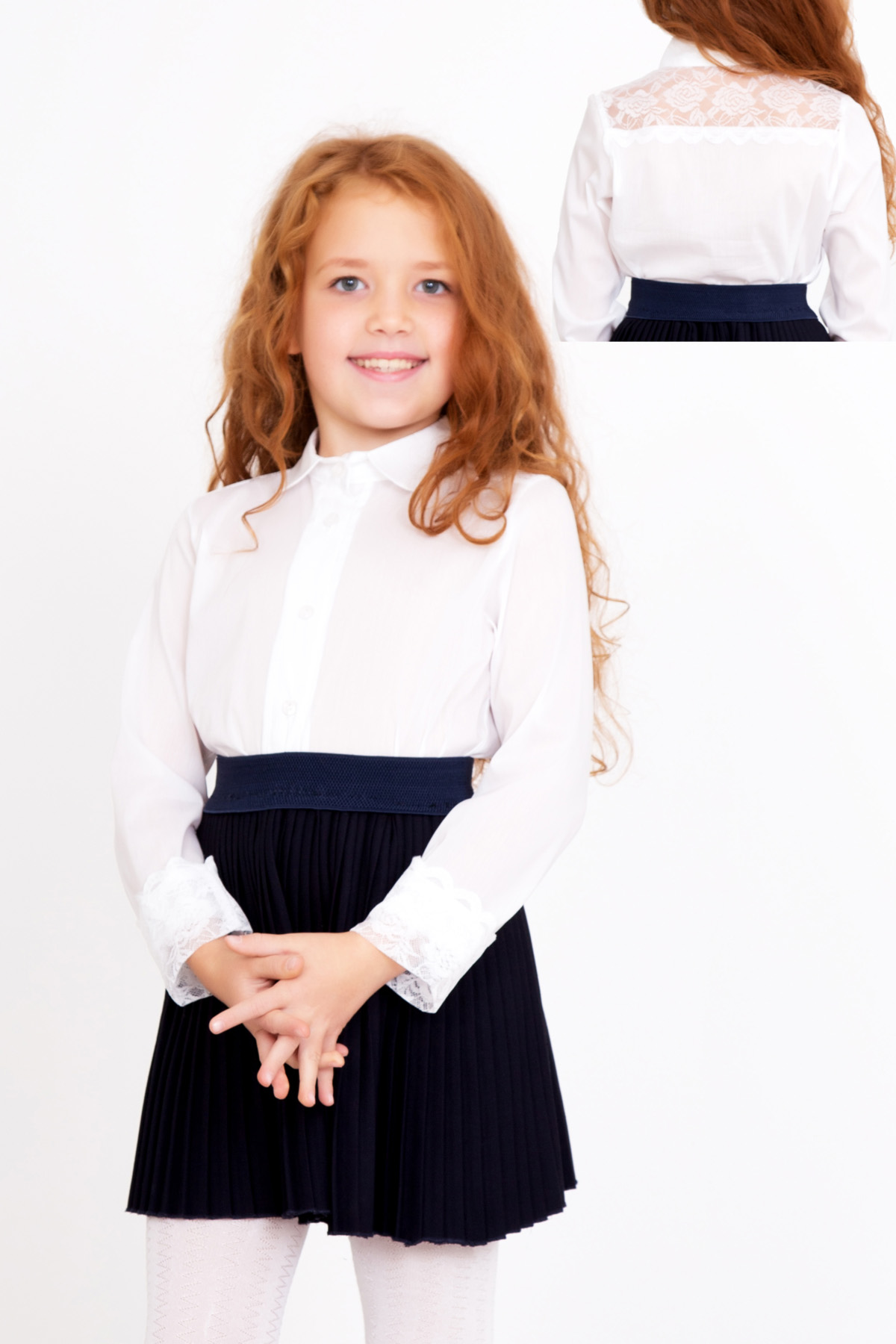 Дет. блуза Школьная р. 32Толстовки, джемпера и рубашки<br><br><br>Тип: Дет. блуза<br>Размер: 32<br>Материал: Штапель