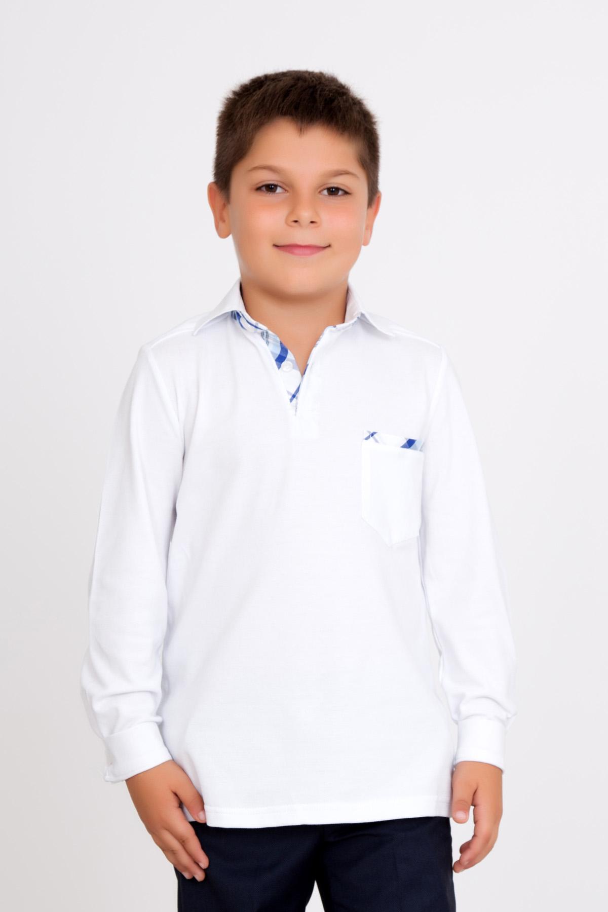 Дет. джемпер арт. 18-0132 Белый р. 38Толстовки, джемпера и рубашки<br><br><br>Тип: Дет. джемпер<br>Размер: 38<br>Материал: Пике