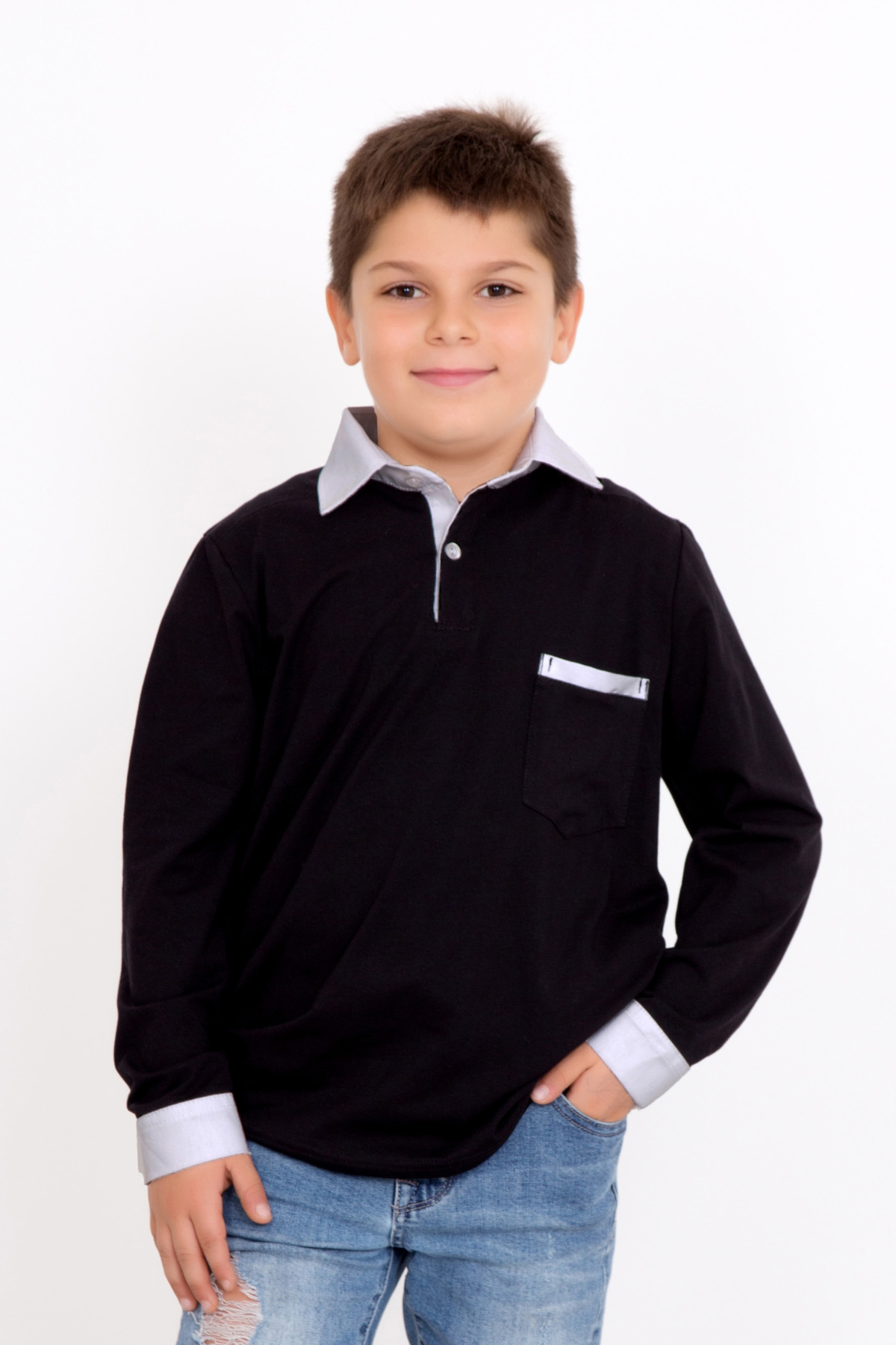 Дет. джемпер арт. 18-0135 Черный р. 38Толстовки, джемпера и рубашки<br><br><br>Тип: Дет. джемпер<br>Размер: 38<br>Материал: Фулайкра