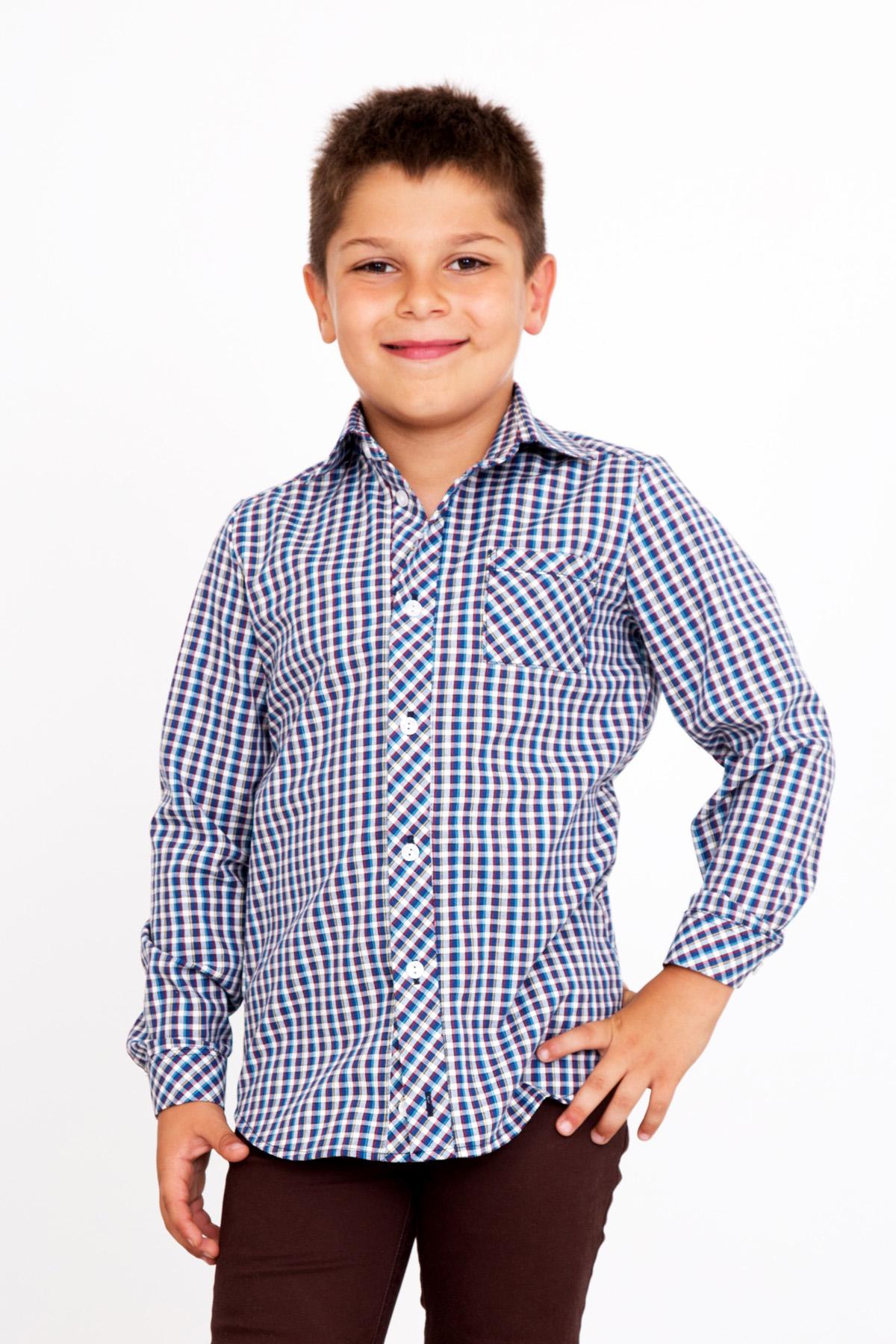 Дет. рубашка Августин р. 34Толстовки, джемпера и рубашки<br><br><br>Тип: Дет. рубашка<br>Размер: 34<br>Материал: Шотландка