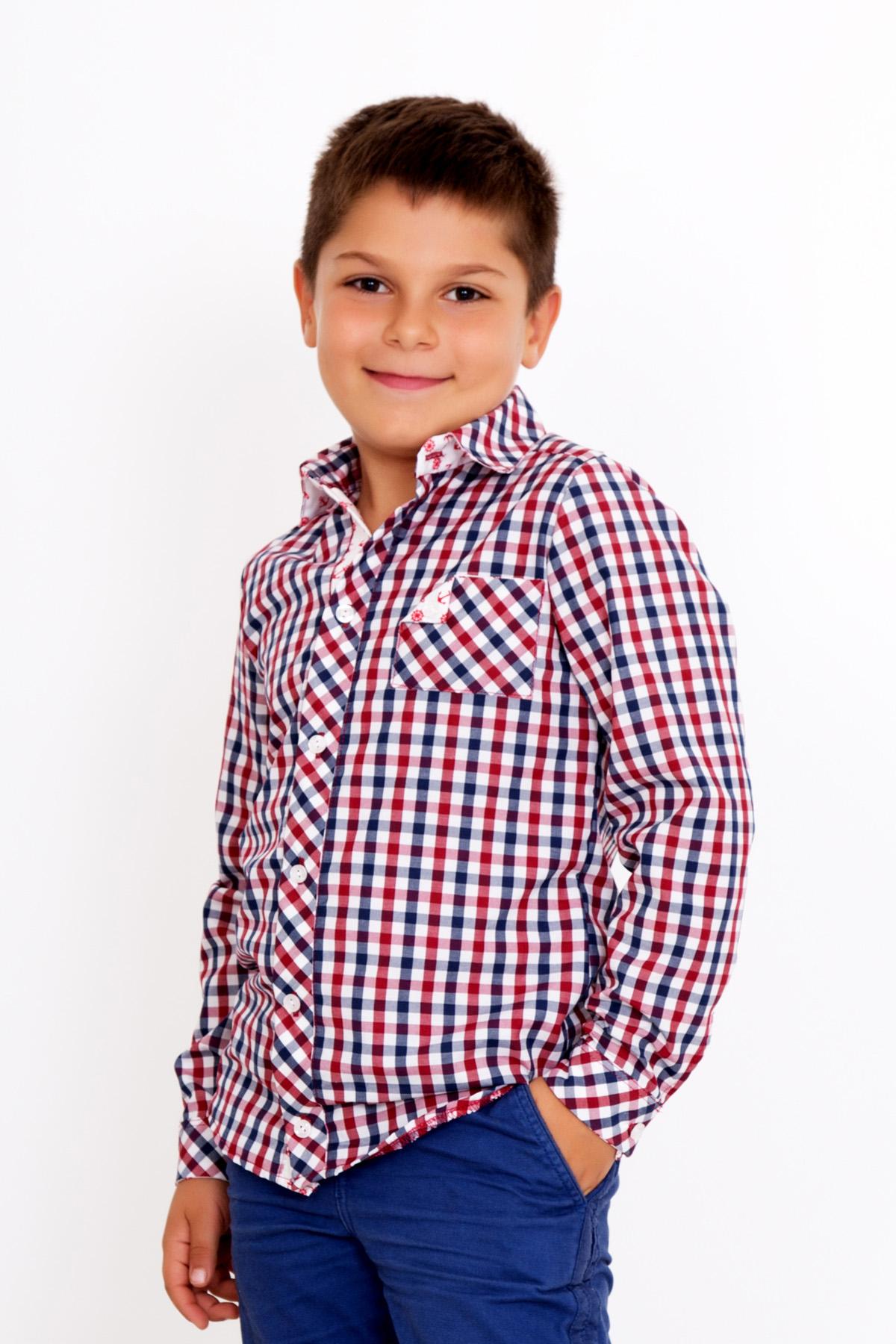 Дет. рубашка Мирослав р. 36Толстовки, джемпера и рубашки<br><br><br>Тип: Дет. рубашка<br>Размер: 36<br>Материал: Сорочечная перкаль