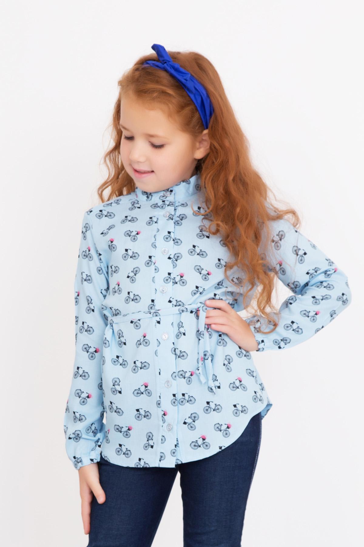Дет. рубашка Василиса р. 32Толстовки, джемпера и рубашки<br><br><br>Тип: Дет. рубашка<br>Размер: 32<br>Материал: Штапель