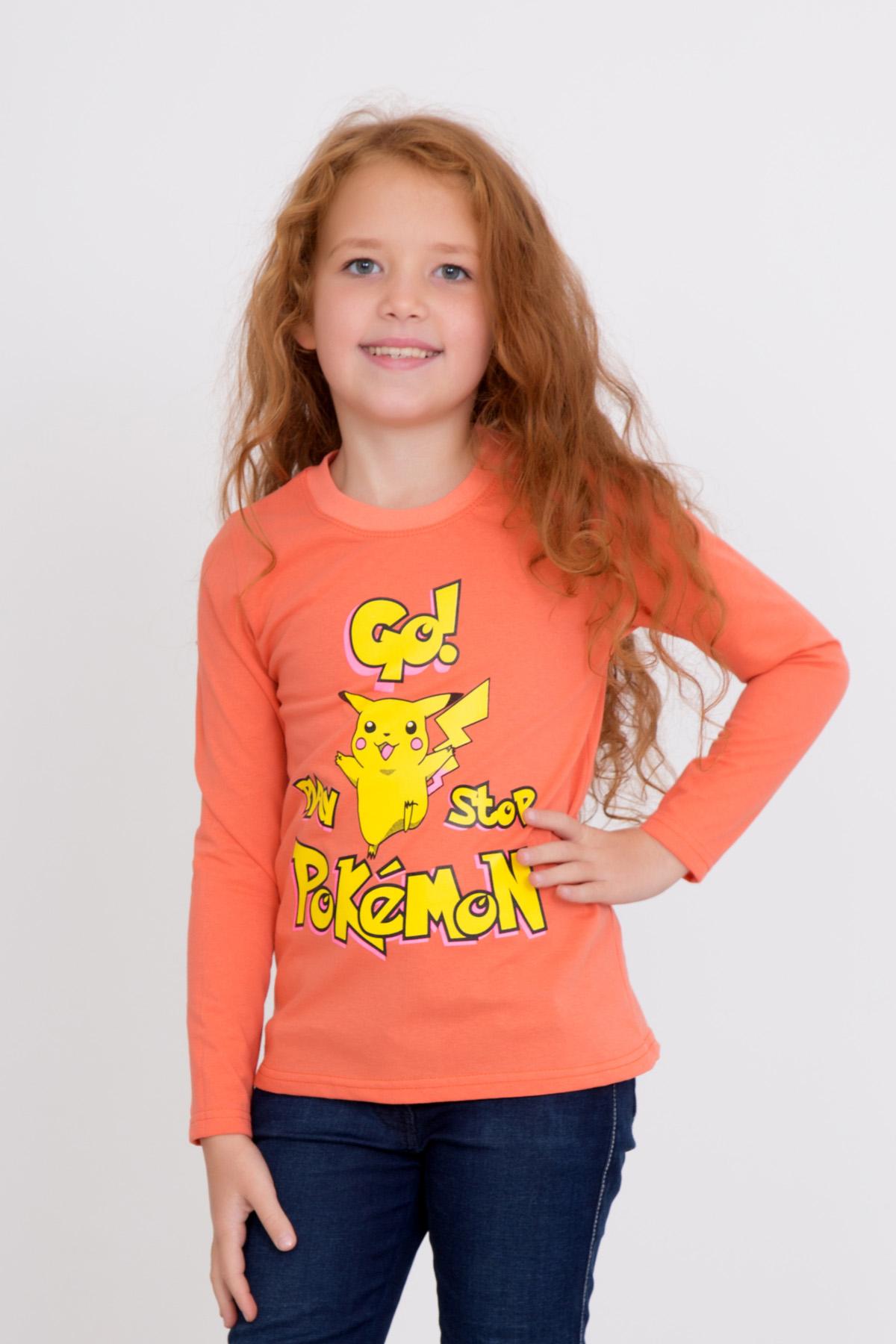 Дет. футболка Покемон Оранжевый р. 34Толстовки, джемпера и рубашки<br><br><br>Тип: Дет. футболка<br>Размер: 34<br>Материал: Кулирка