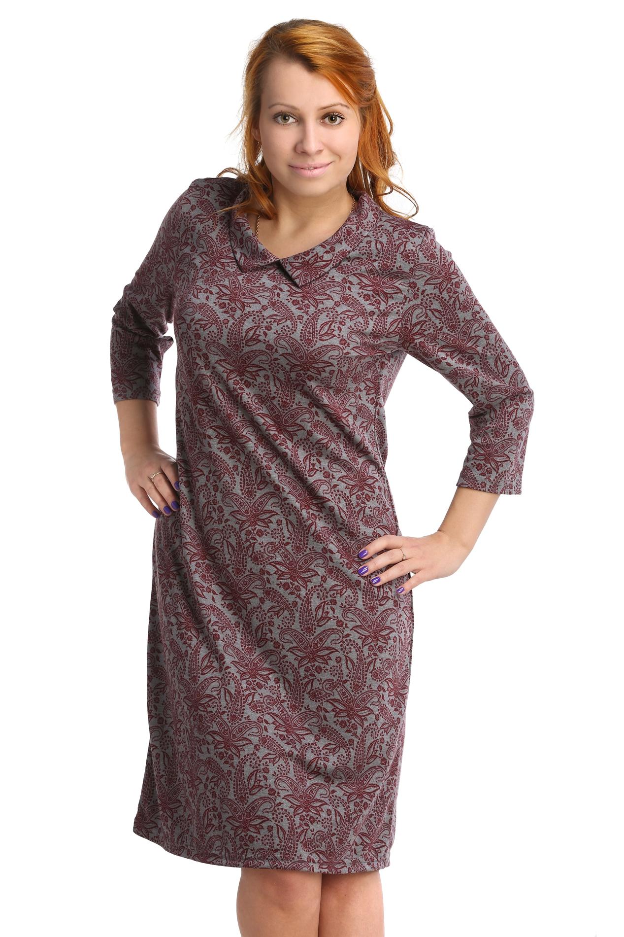 Жен. платье арт. 16-0073 Бордо р. 52Платья<br>Обхват груди:104 см<br>Обхват талии:86 см<br>Обхват бедер:112 см<br>Длина по спинке:99 см<br>Рост:164-170 см<br><br>Тип: Жен. платье<br>Размер: 52<br>Материал: Интерлок